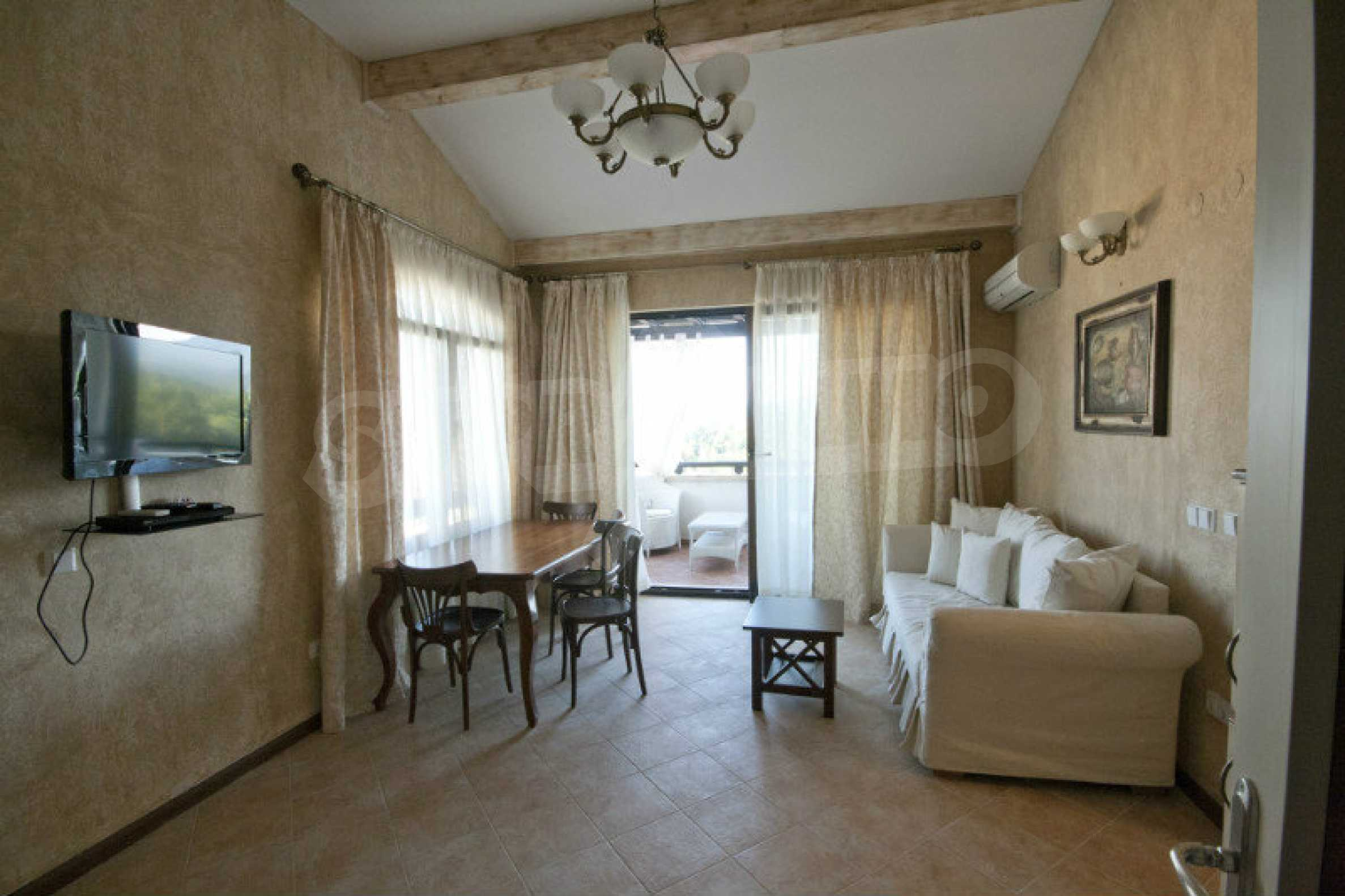 Designer apartment in an elite complex on the beach