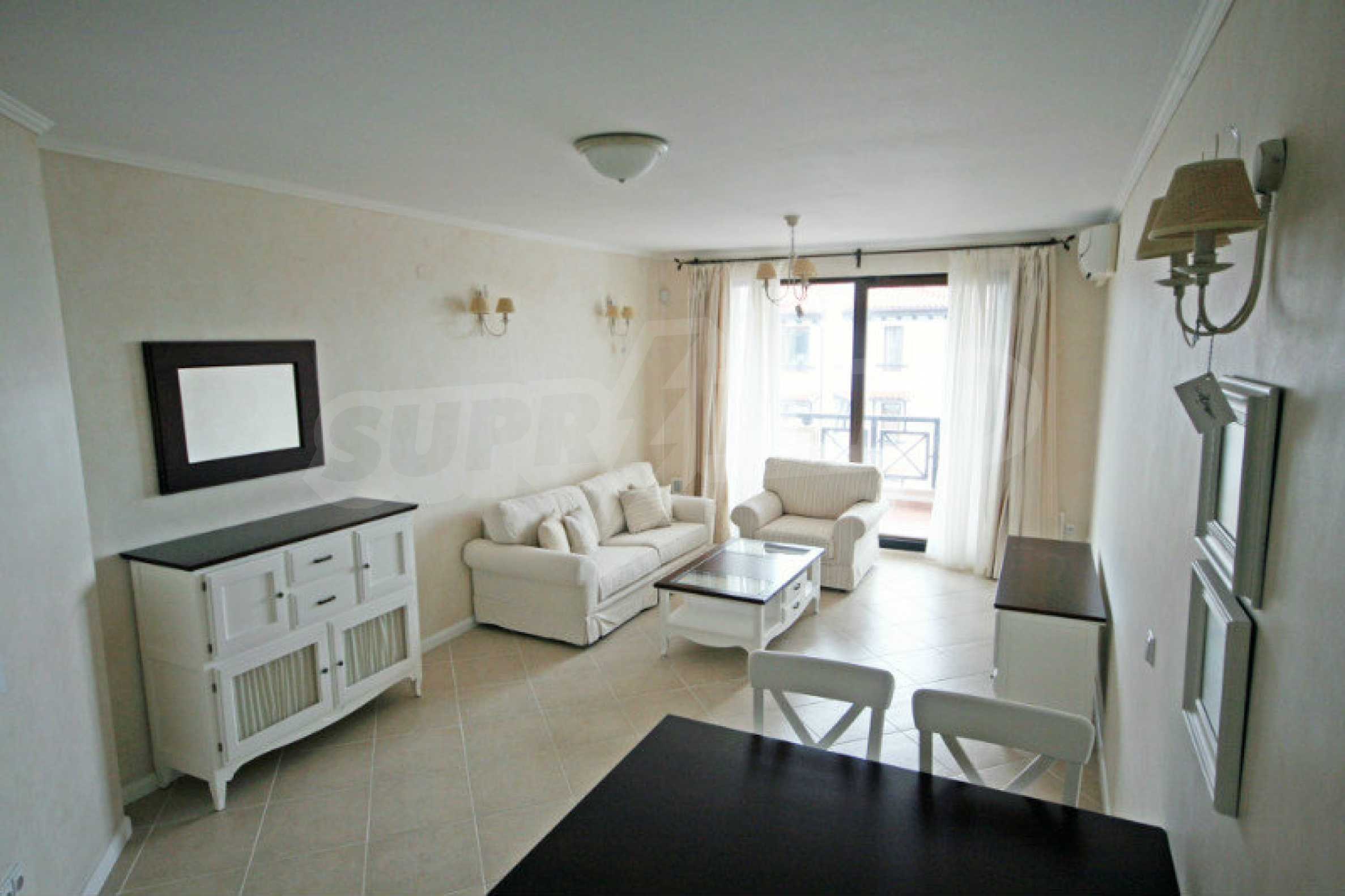 """Komfortables Apartment mit einem Schlafzimmer in einem prestigeträchtigen Komplex in der Nähe des Strandes """"Oasis"""" 3"""