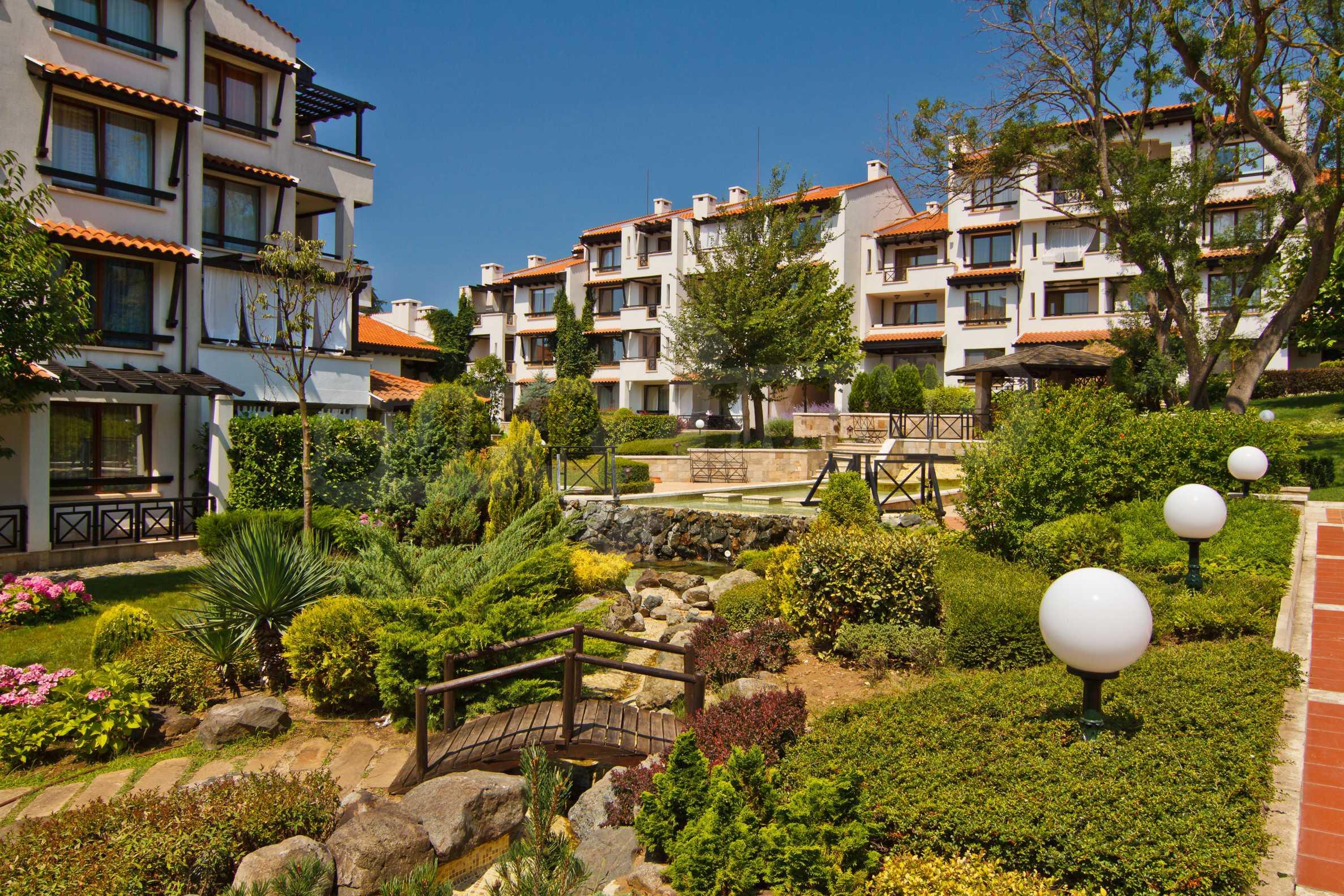 """Komfortables Apartment mit einem Schlafzimmer in einem prestigeträchtigen Komplex in der Nähe des Strandes """"Oasis"""" 10"""