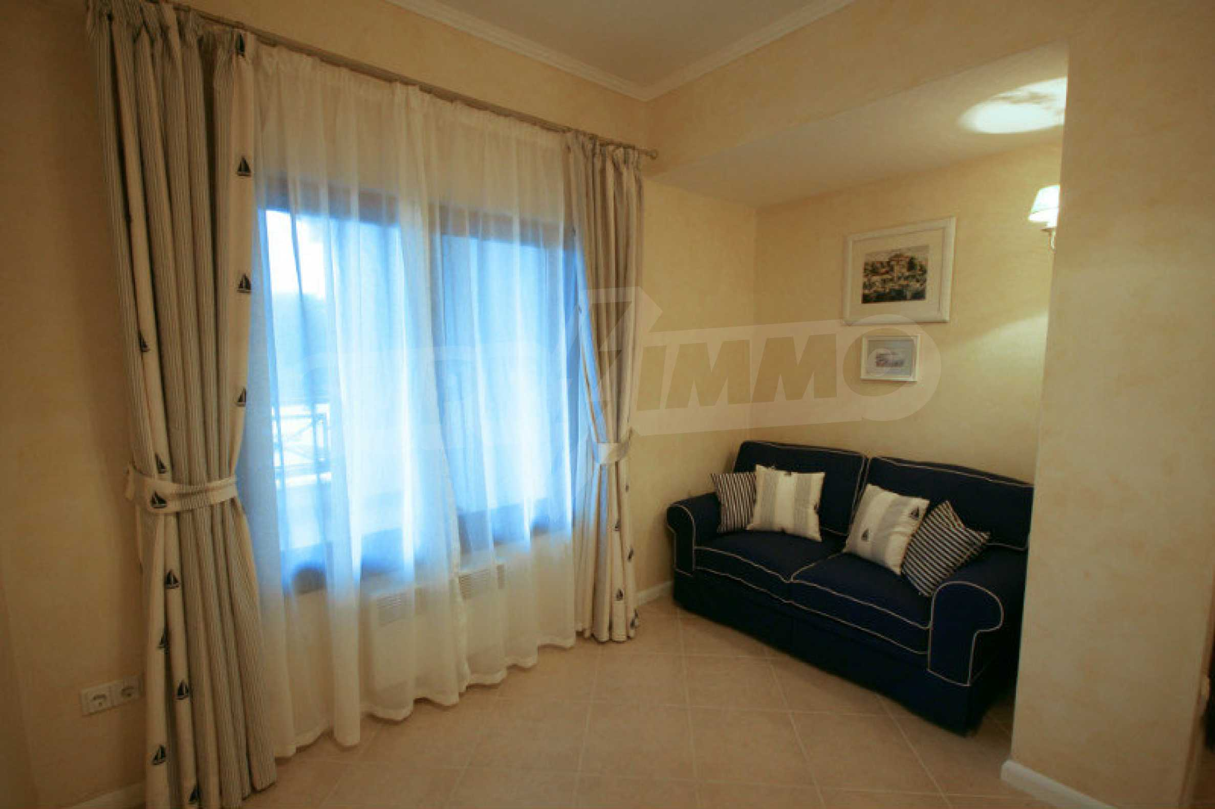 Two bedroom apartment with stylish furniture in a first line complex 11