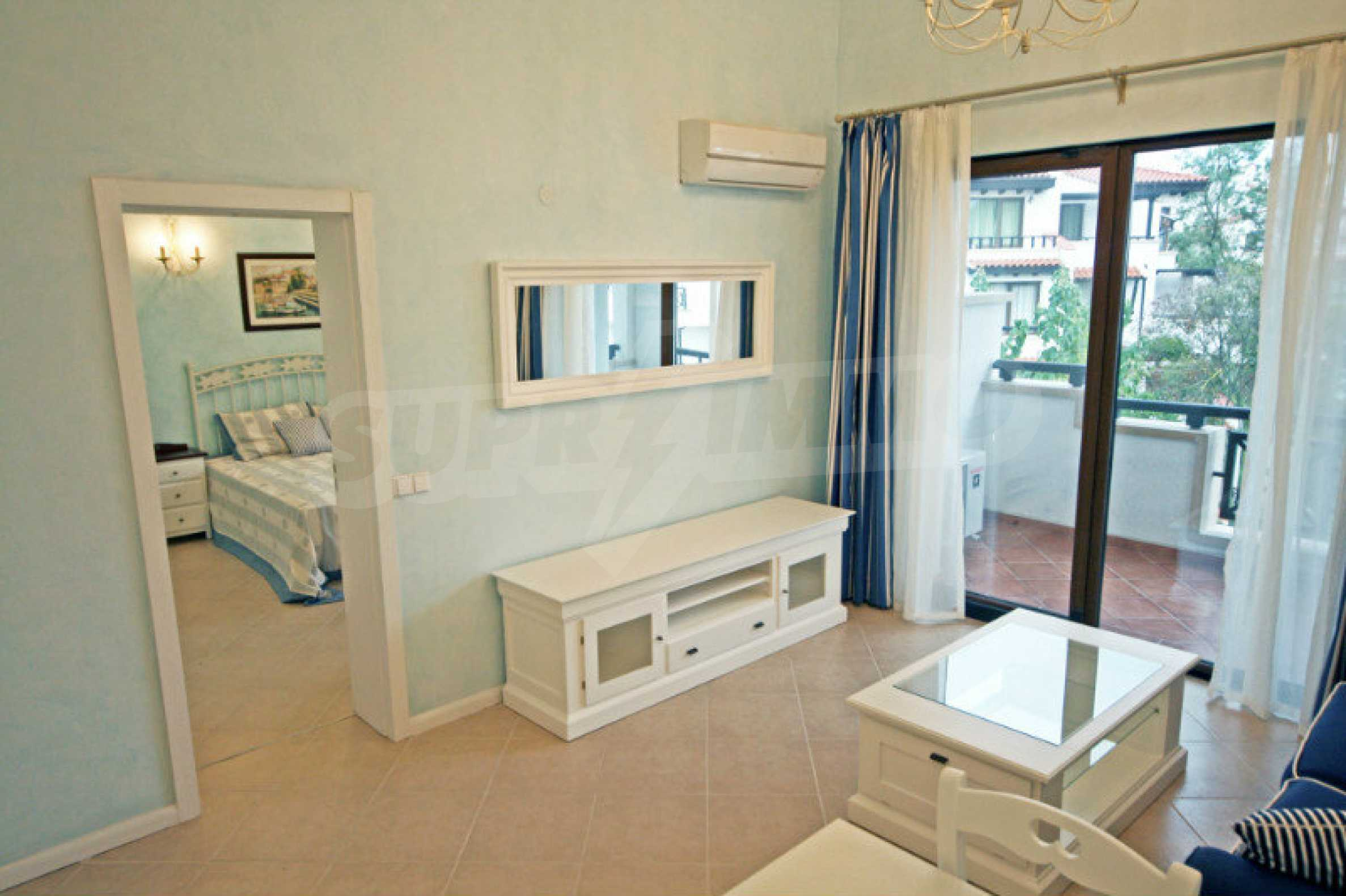 Two bedroom apartment with stylish furniture in a first line complex 6
