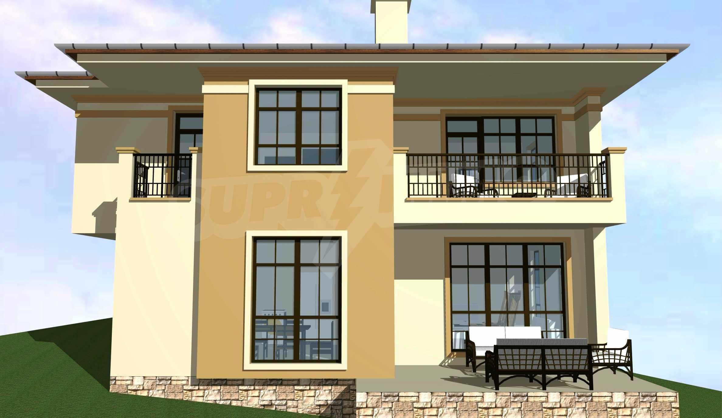Luxuriöses dreistöckiges Haus mit Garten in der Villenzone von Chervenka