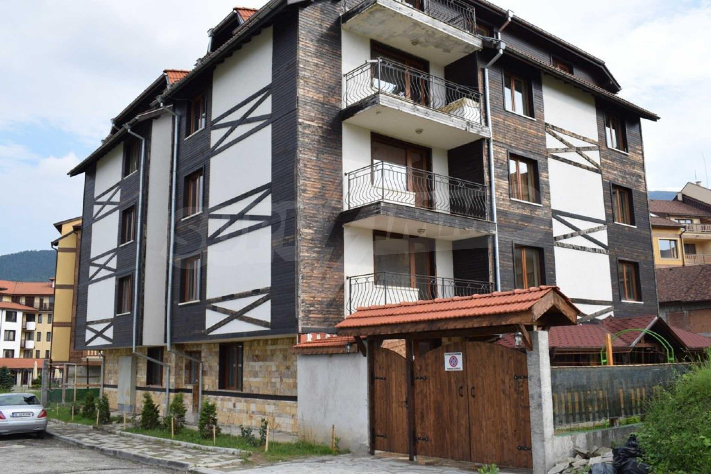 Двустаен, напъно обзаведен апартамент в Банско