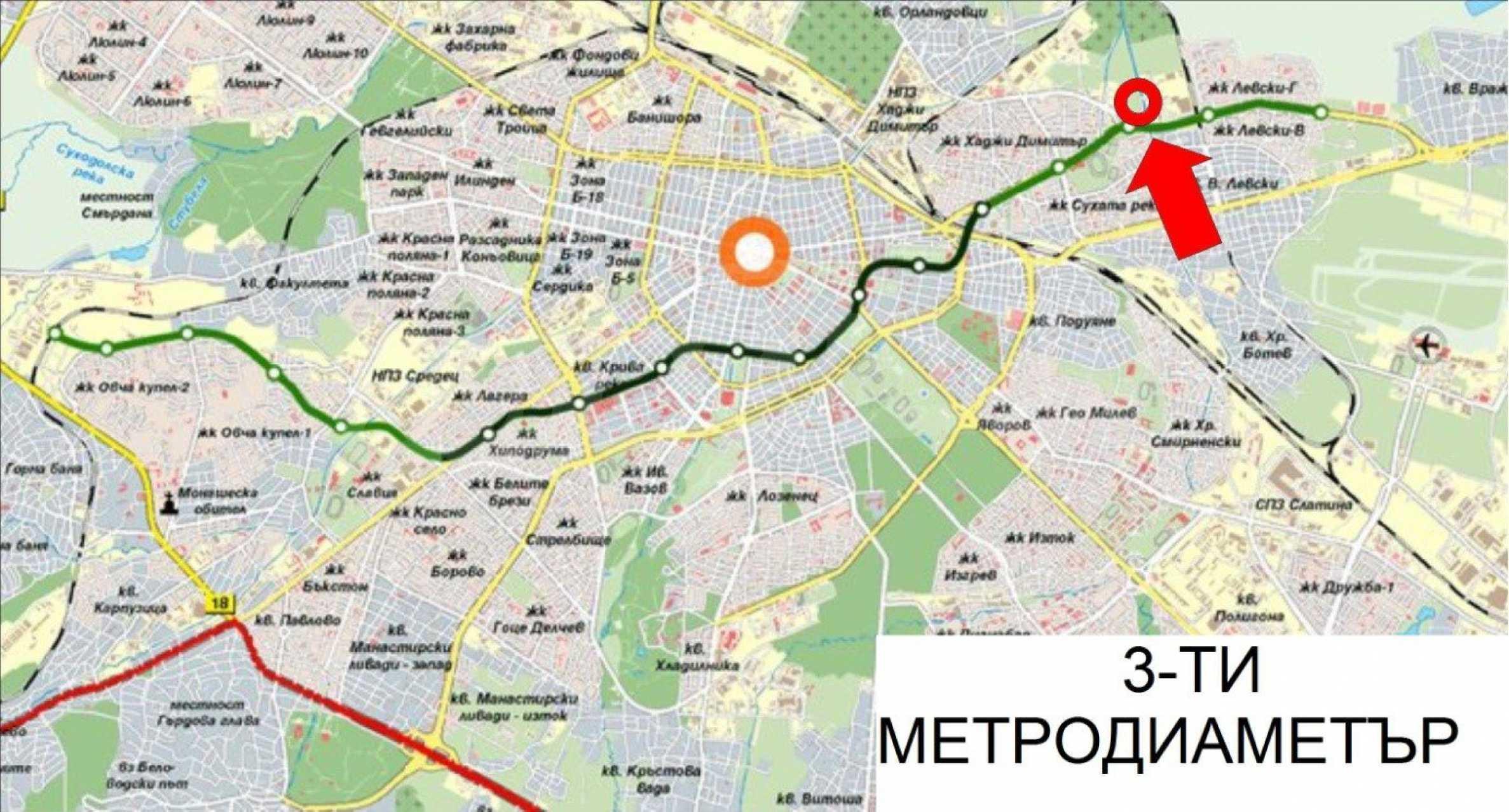 Регулиран парцел до бъдеща метростанция в гр. София 1