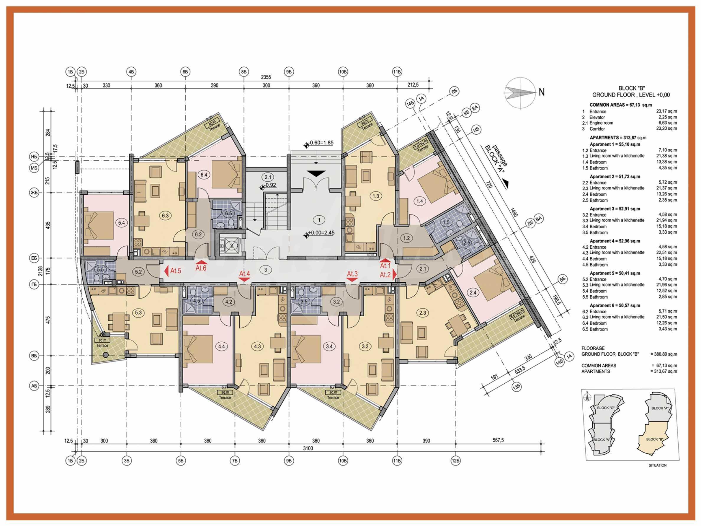 2-Raum-Apartment zu einem sehr günstigen Preis im Zentrum vom Sonnenstrand 16