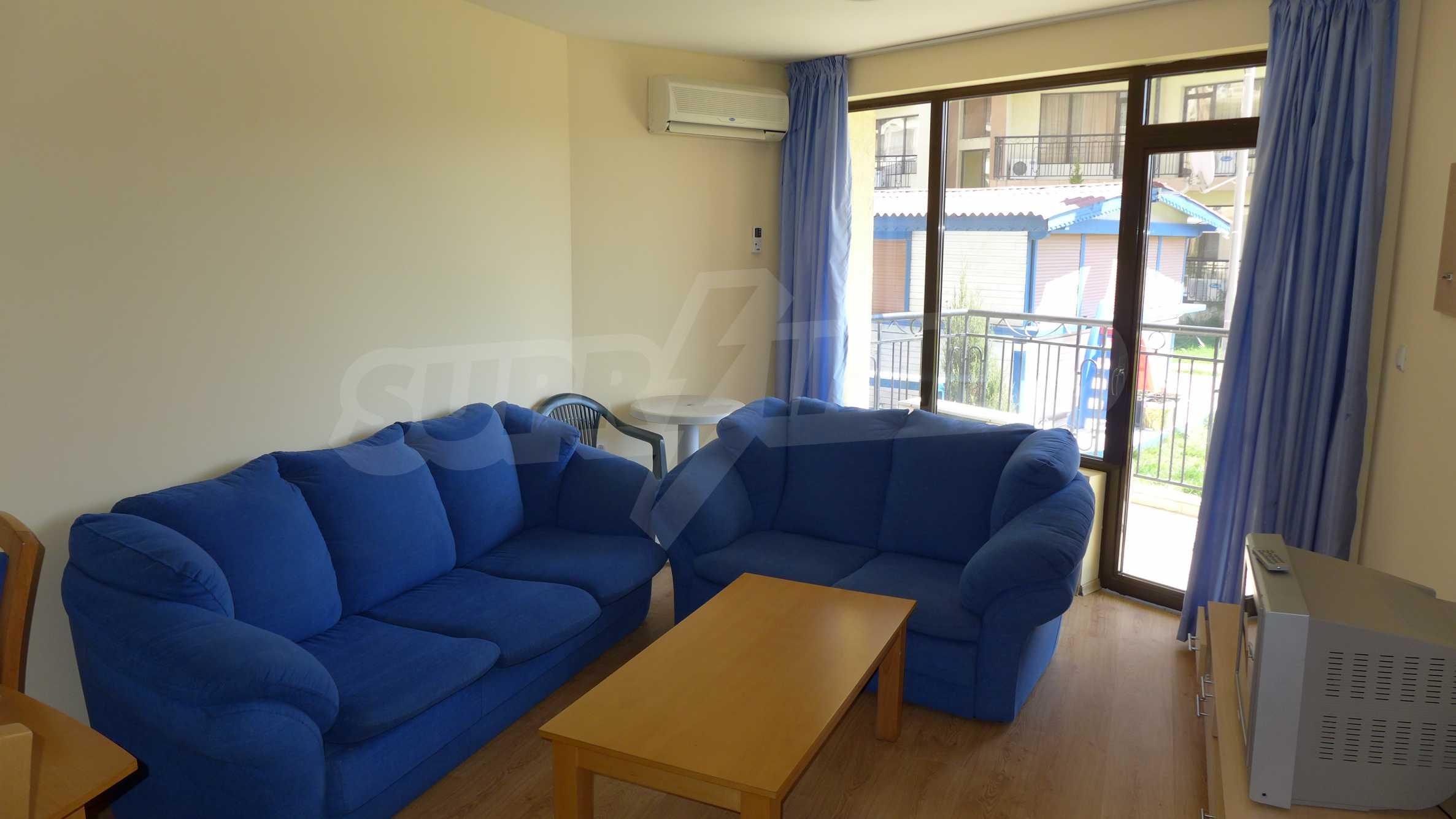 2-Raum-Apartment zu einem sehr günstigen Preis im Zentrum vom Sonnenstrand 1