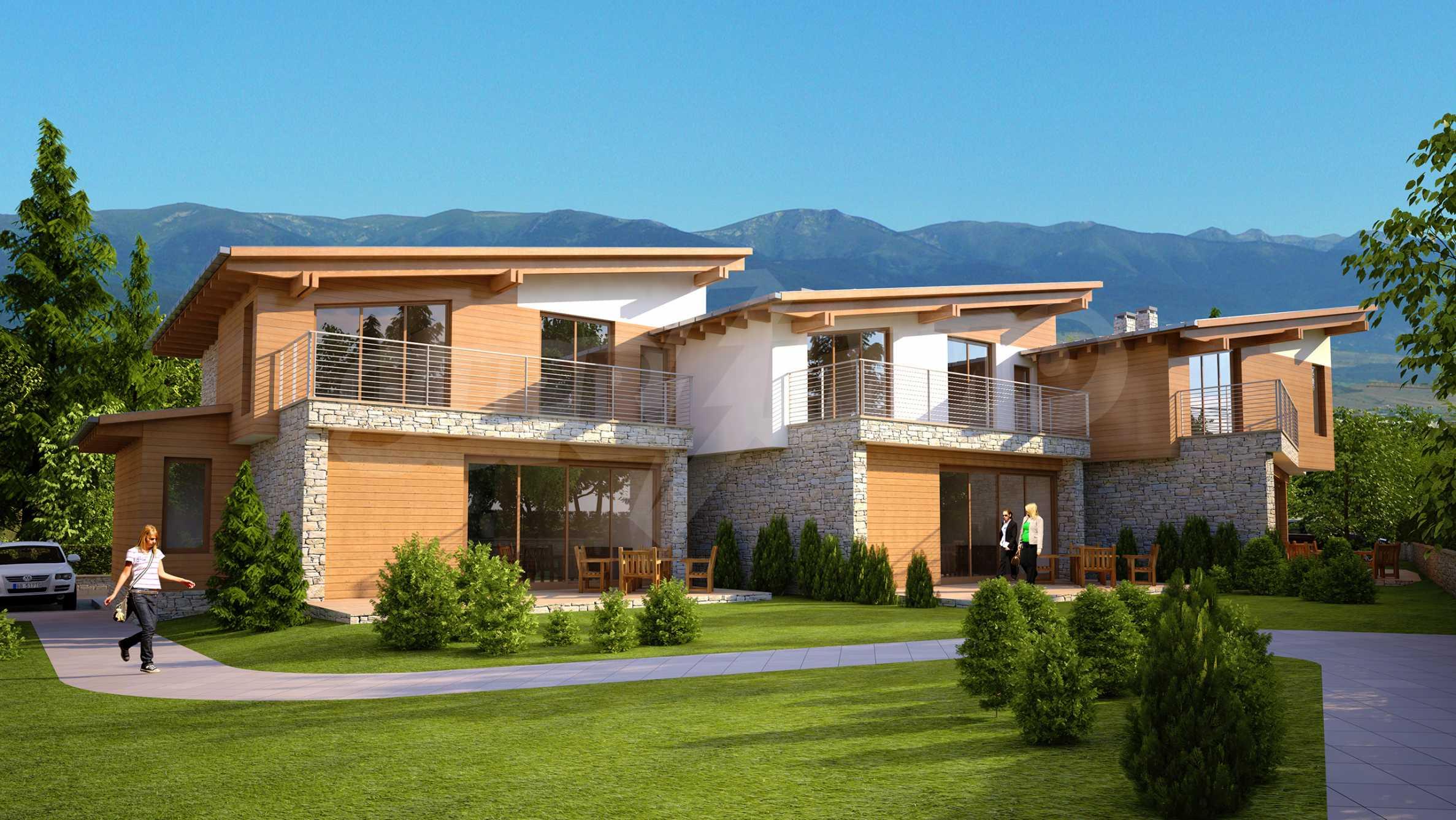 House for sale in Bansko, Bulgaria - Alpina Chalets complex near the Gondola.