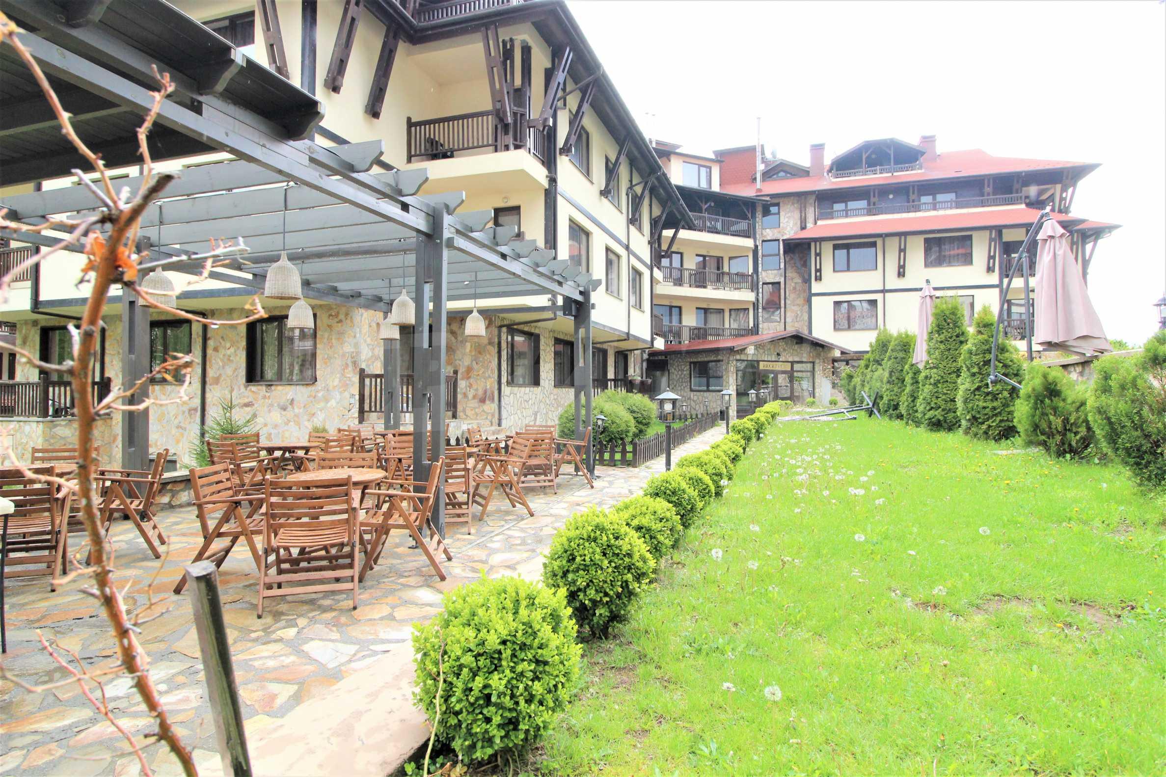 Обзаведен двустаен апартамент, разположен в СПА комплекс Мария Антоанета, само на метри от ски лифта в Банско