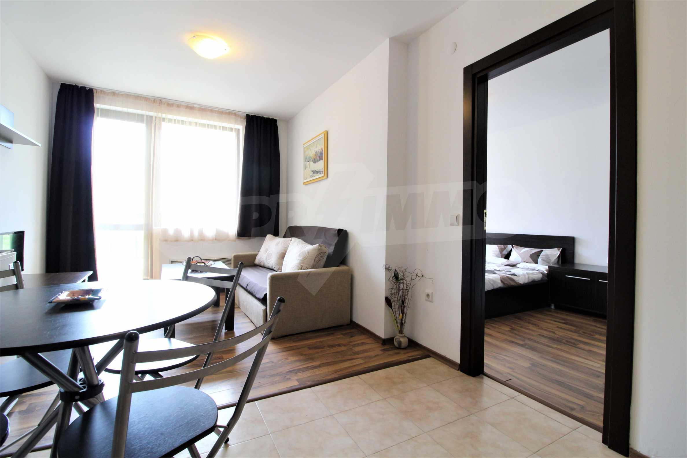 Обзаведен двустаен апартамент, разположен в СПА комплекс Мария Антоанета, само на метри от ски лифта в Банско 7