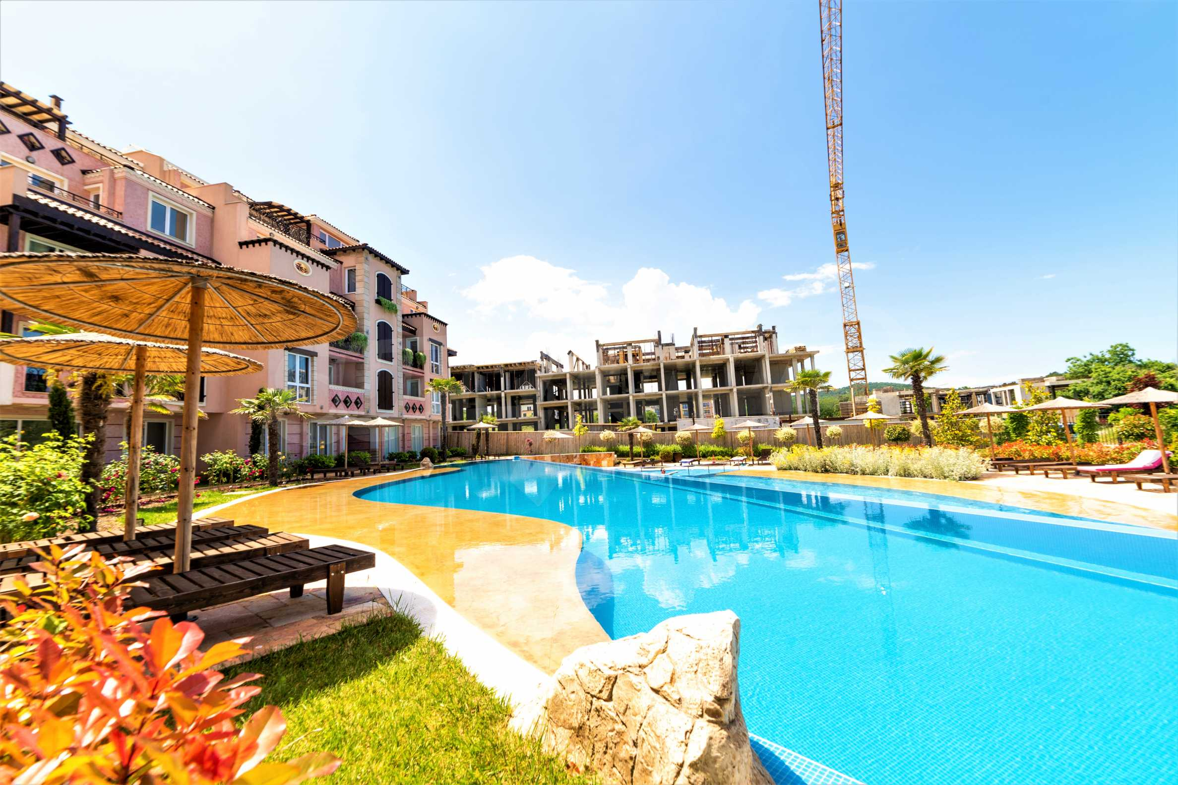 Apartment with frontal sea view in TOP complex near Kavatsi Beach 3