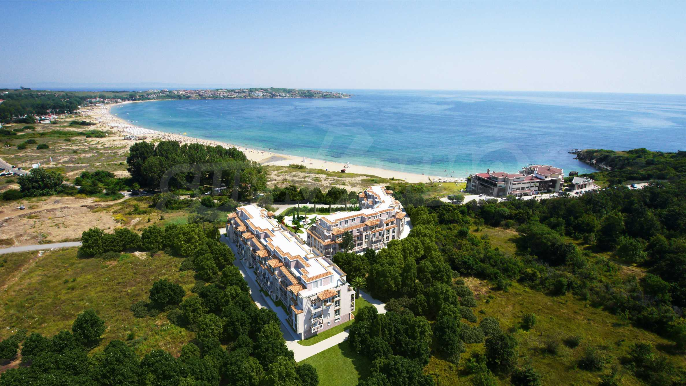 Apartment with frontal sea view in TOP complex near Kavatsi Beach 9