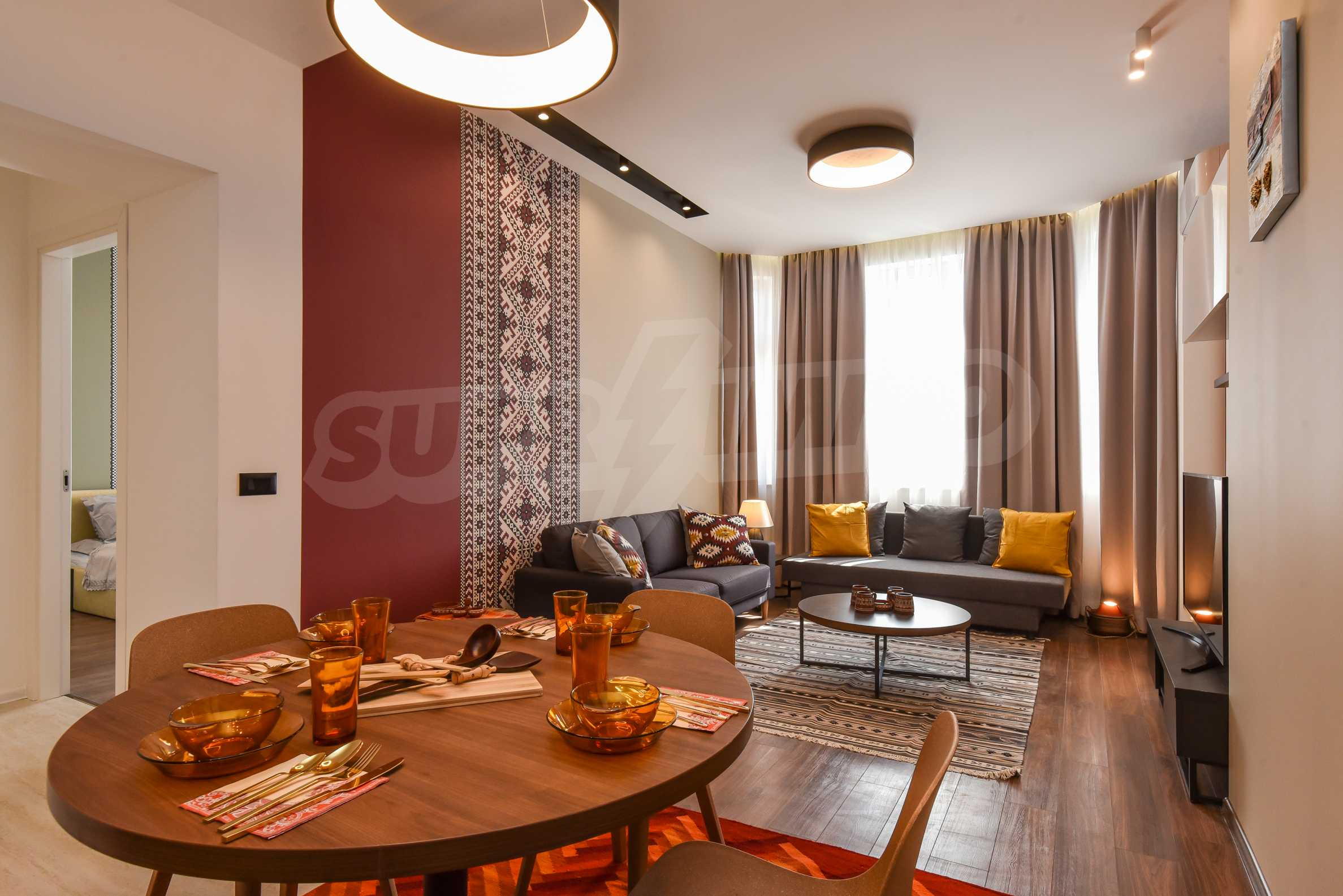 Modern three bedroom apartment with working business in the center of Sofia 2