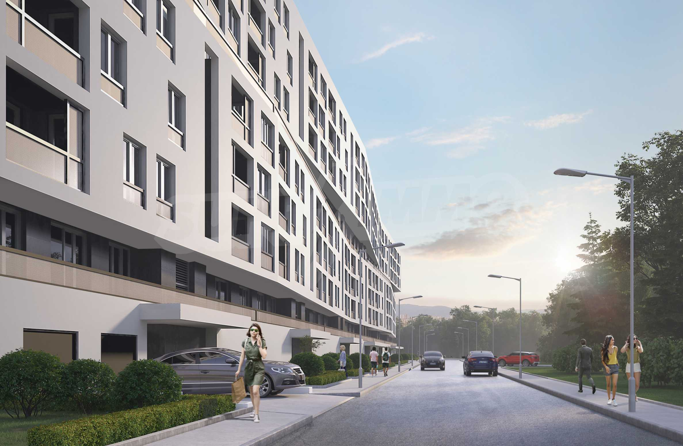 Two bedroom apartment with two terraces in a new complex near the center