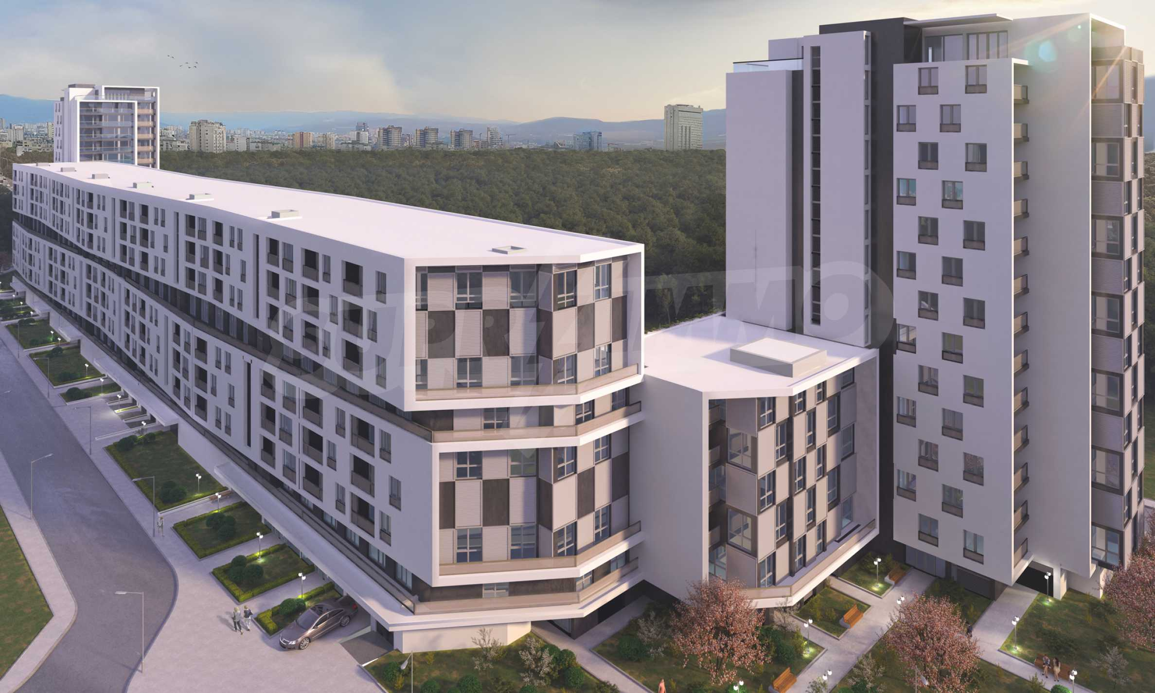 Two bedroom apartment with two terraces in a new complex near the center 2