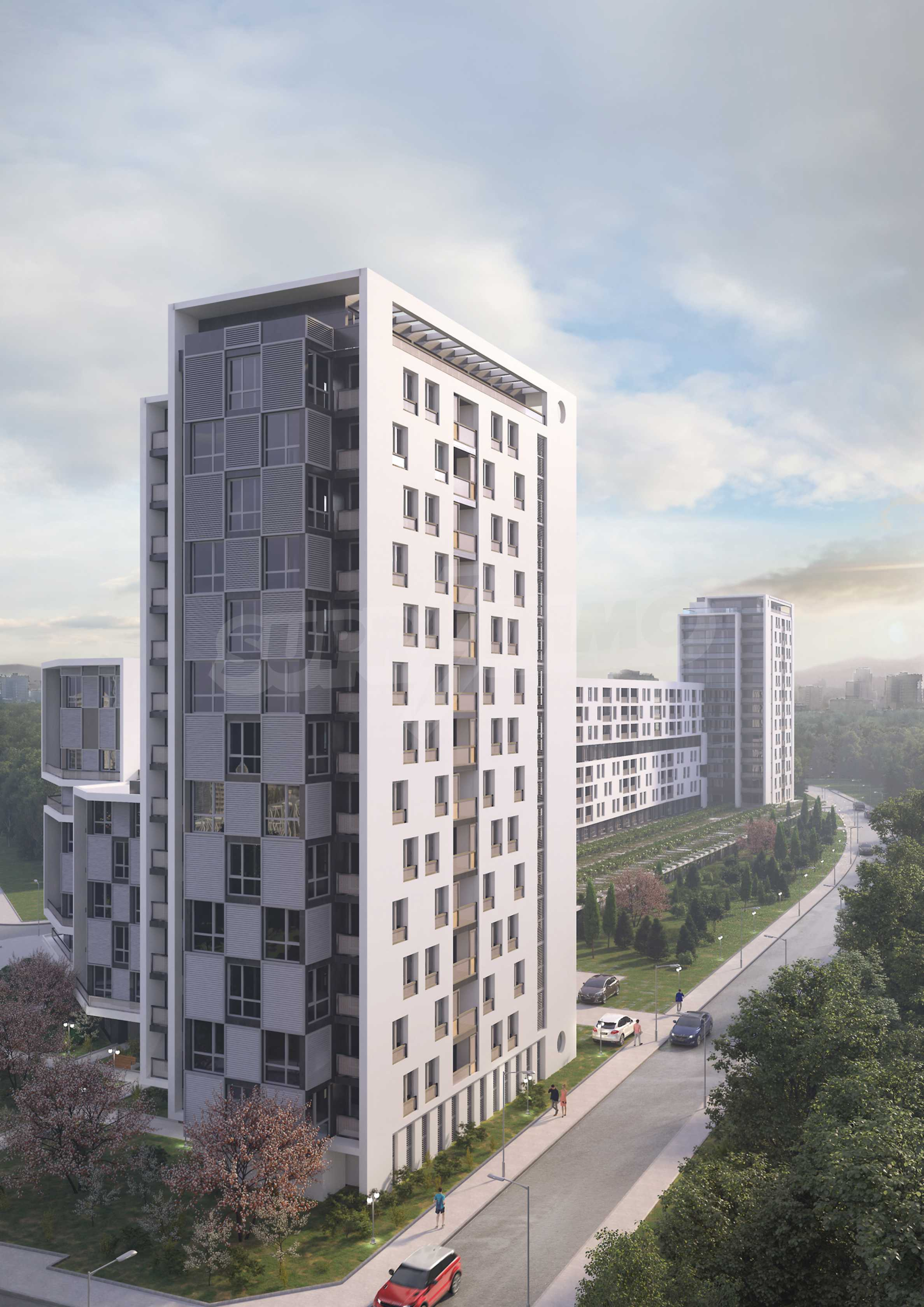 Two bedroom apartment in a new complex near the center