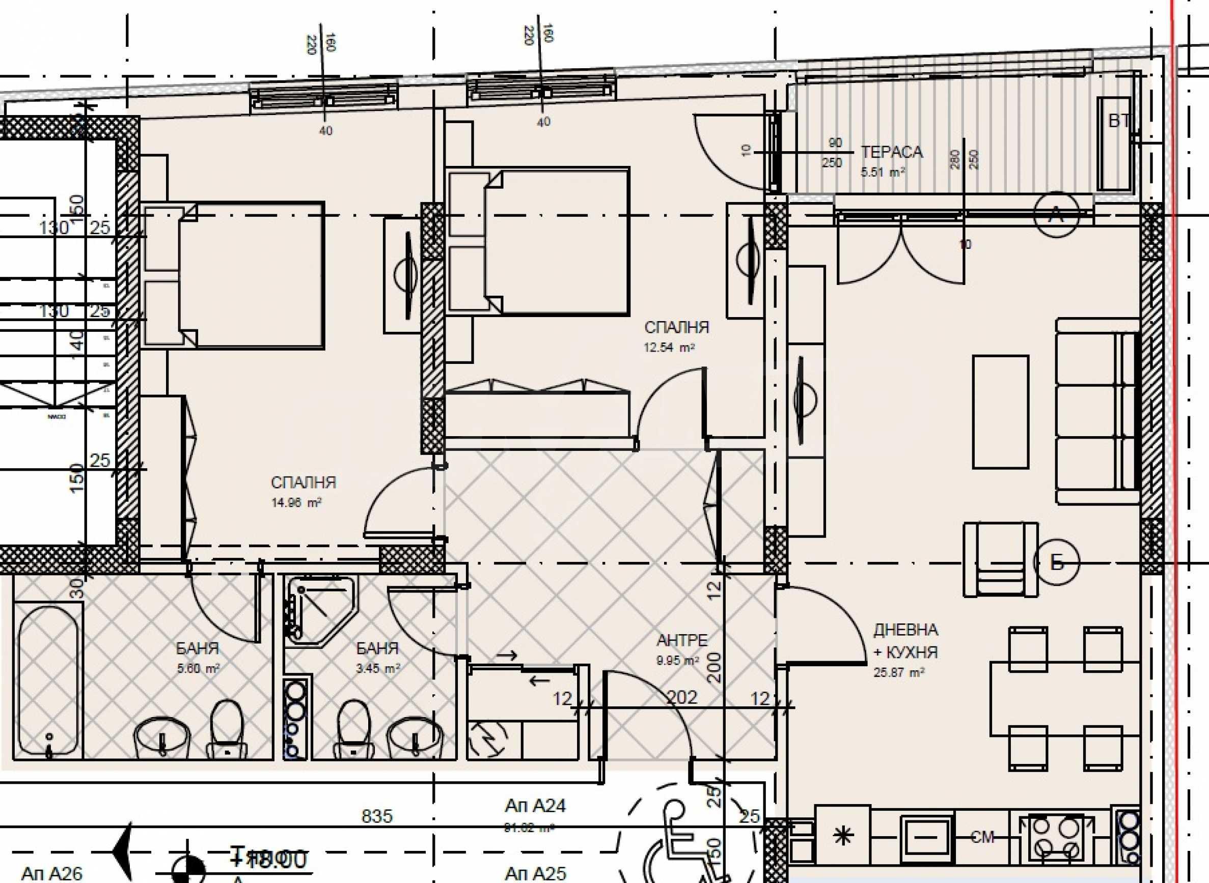 Тристаен апартамент в нов комплекс до центъра 4