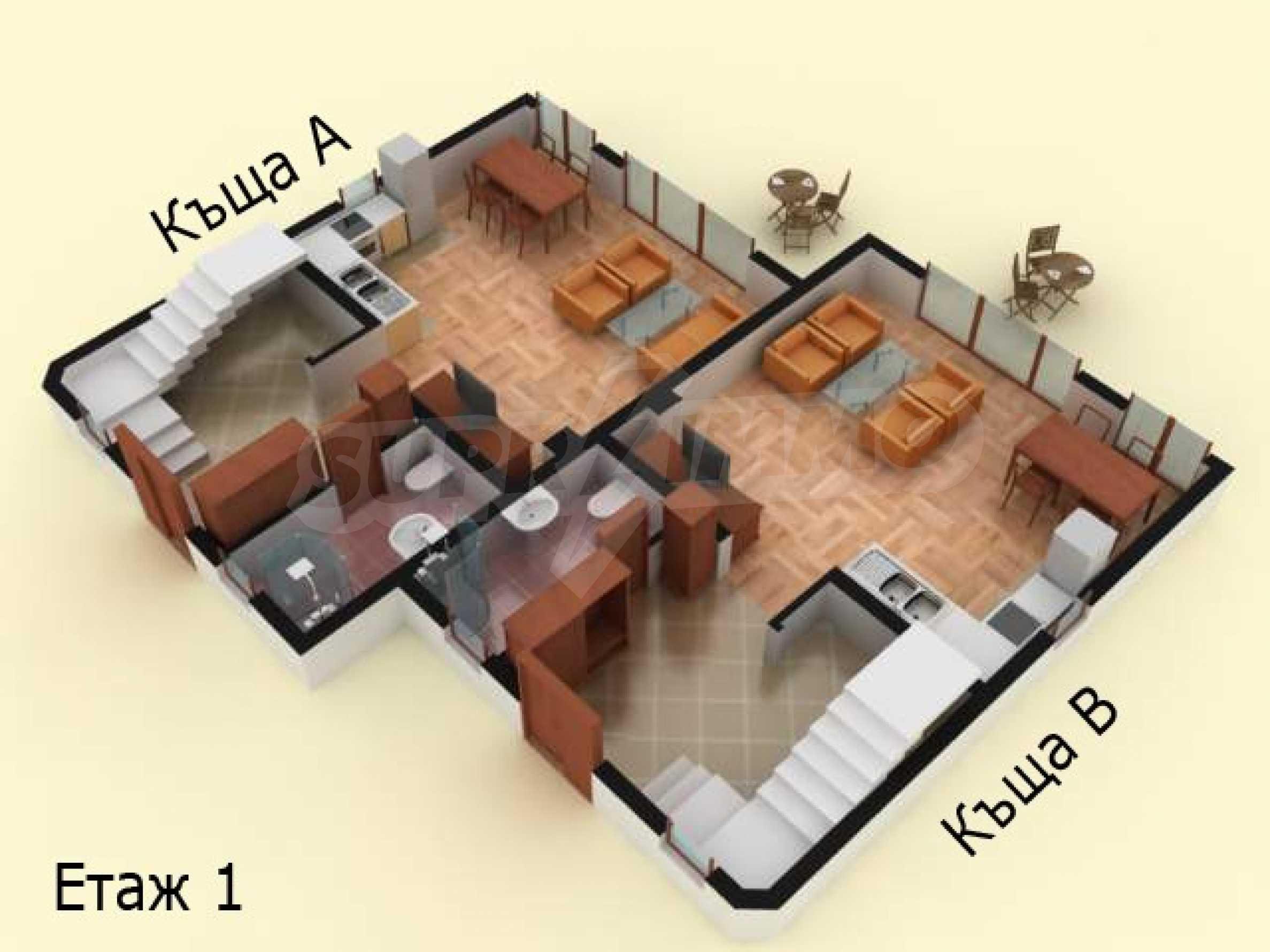 Sea view twin house in unique complex SOZOPOLIS (56A) 34