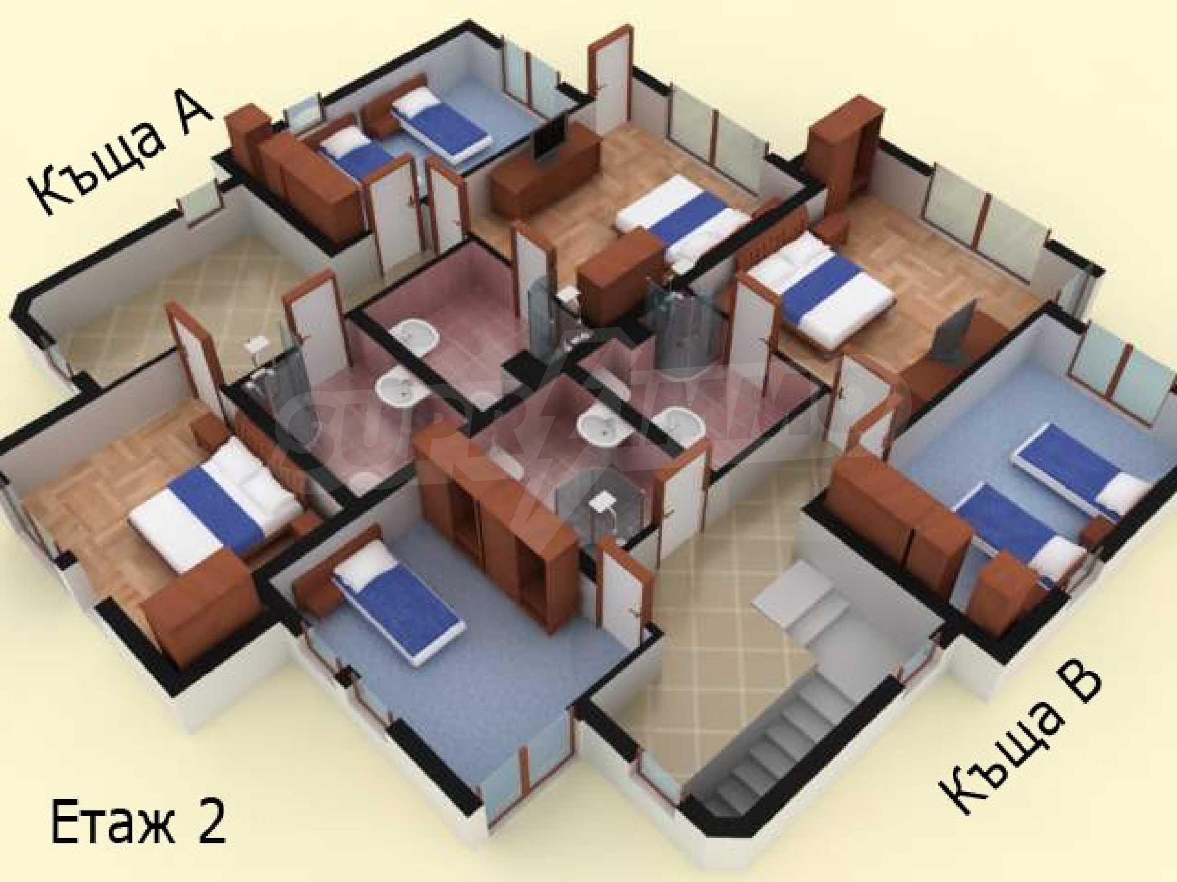 Sea view twin house in unique complex SOZOPOLIS (56A) 35