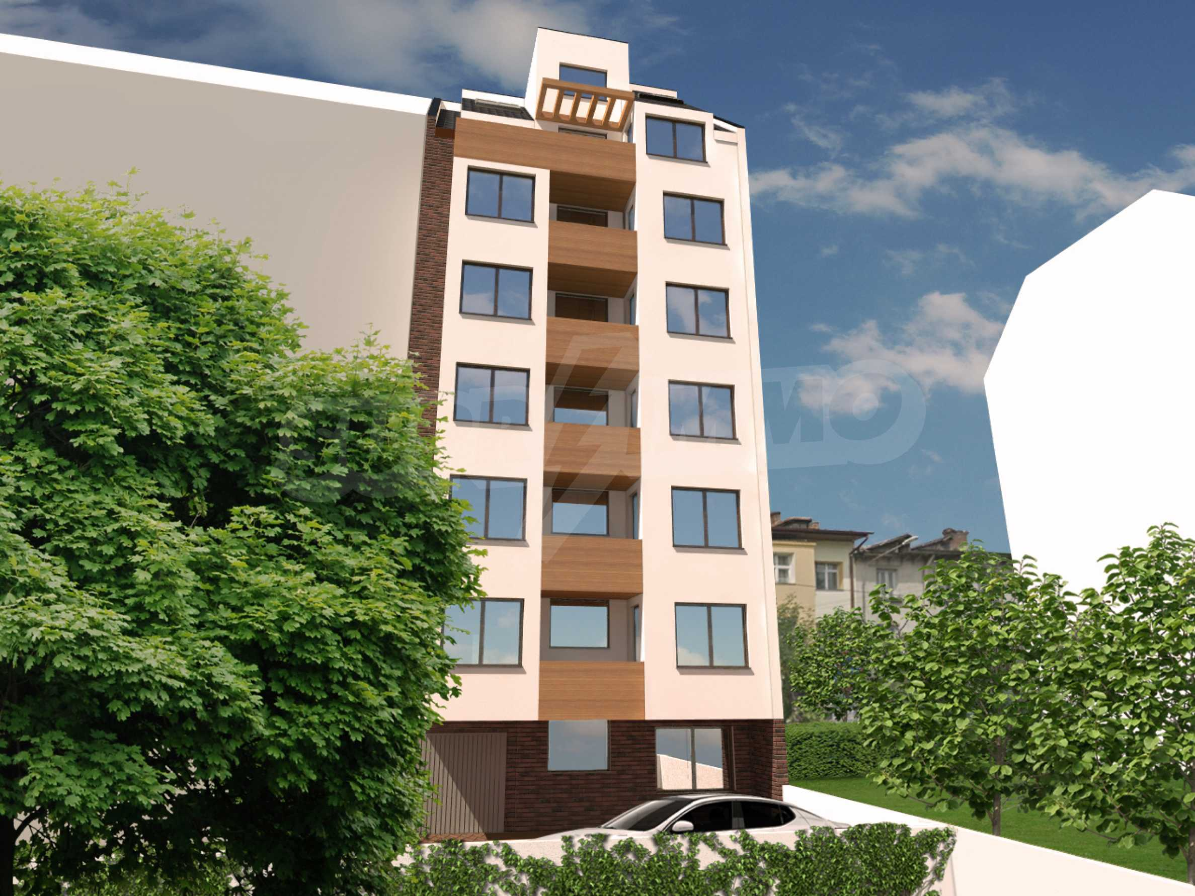 High-rise residential building with one-bedroom apartments in the wide center 1