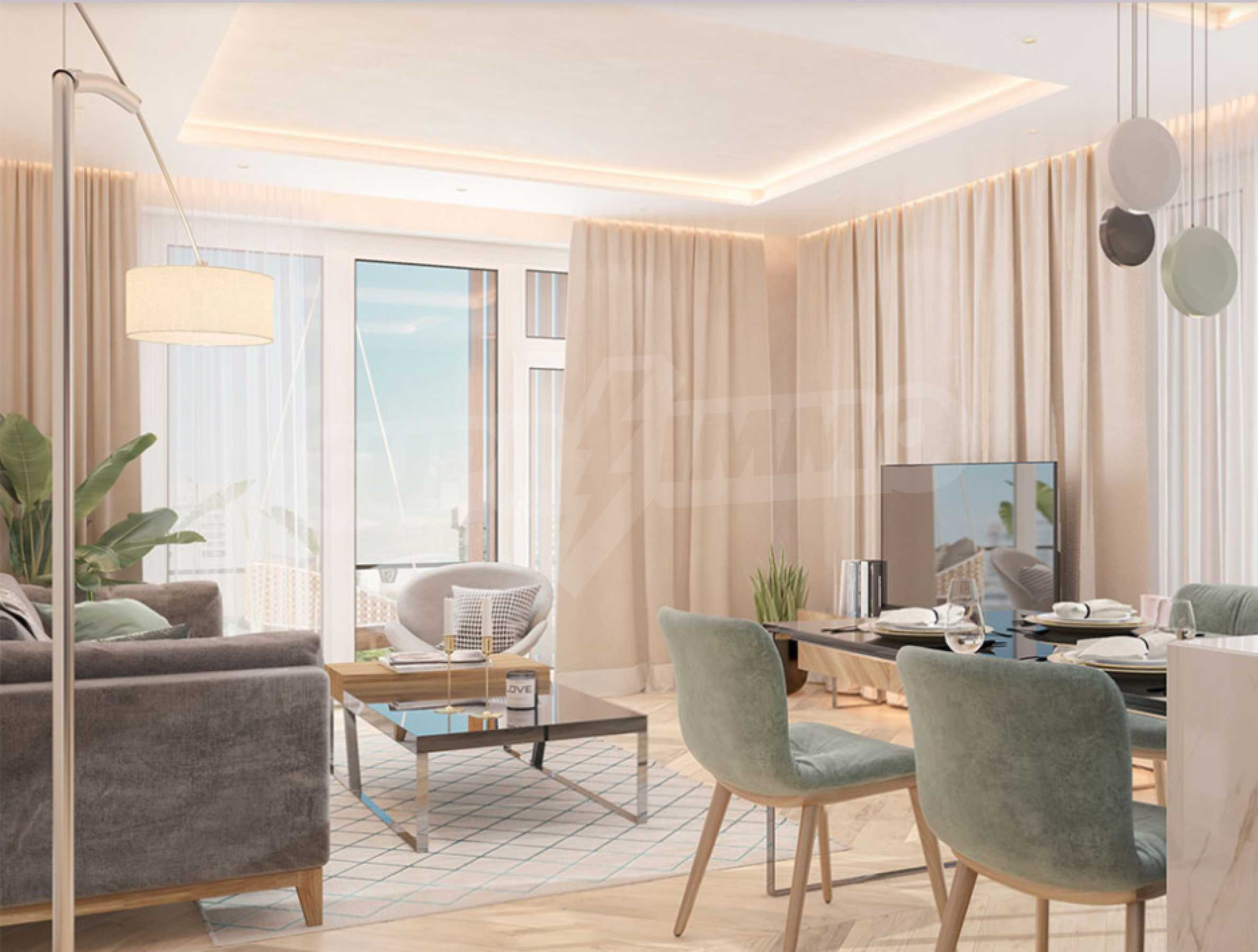 Two bedroom apartment overlooking a new building next to a park, Mall Sofia and metro station 4