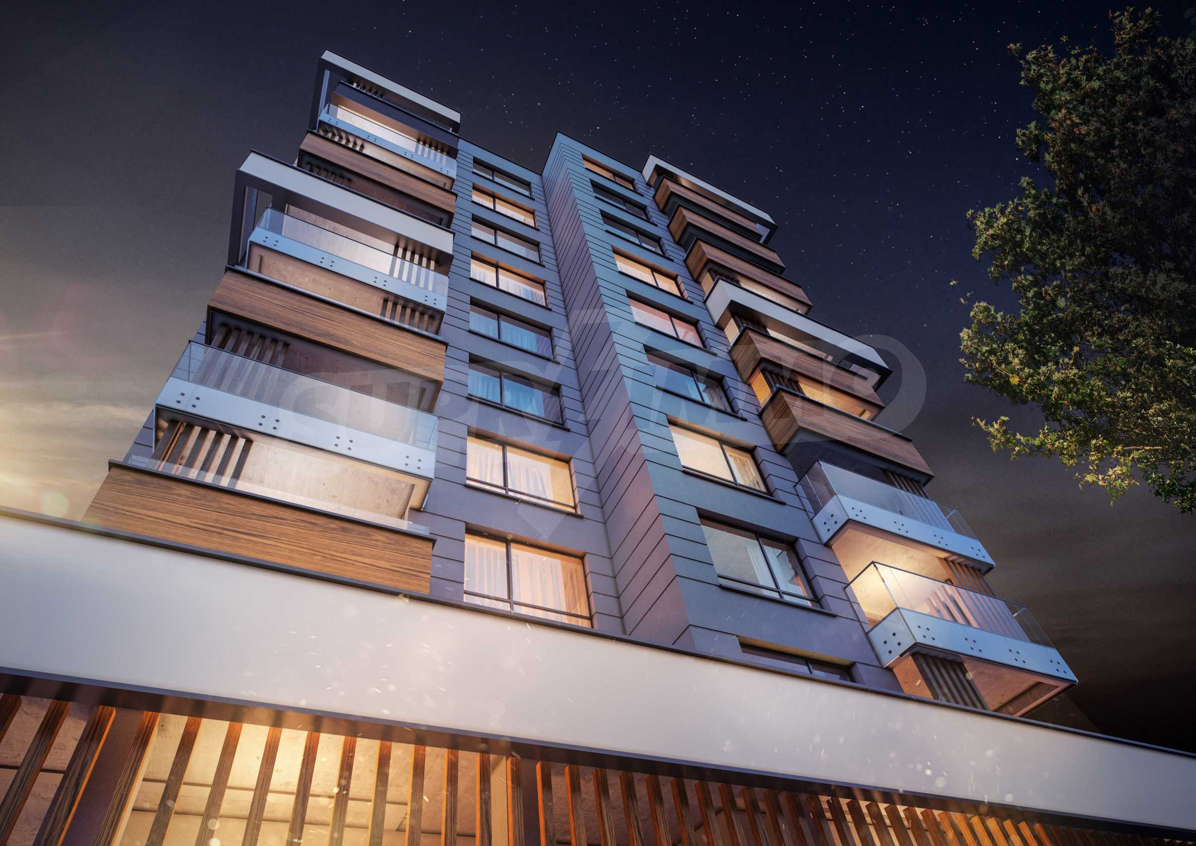 Two bedroom apartment overlooking a new building next to a park, Mall Sofia and metro station 7