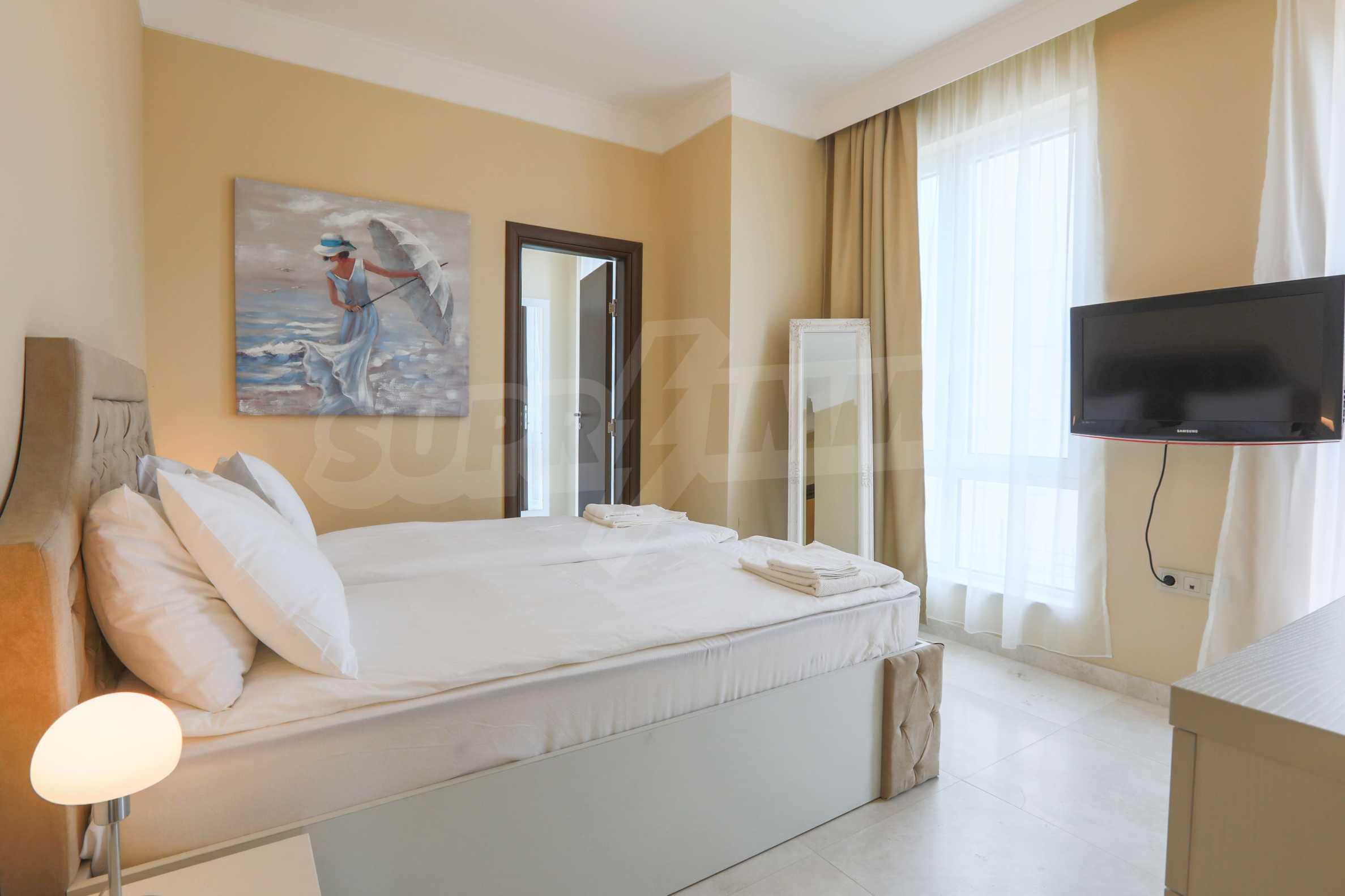 Комфортен двустаен апартамент под наем в Belle Époque Beach Residence, курорт Лозенец 12