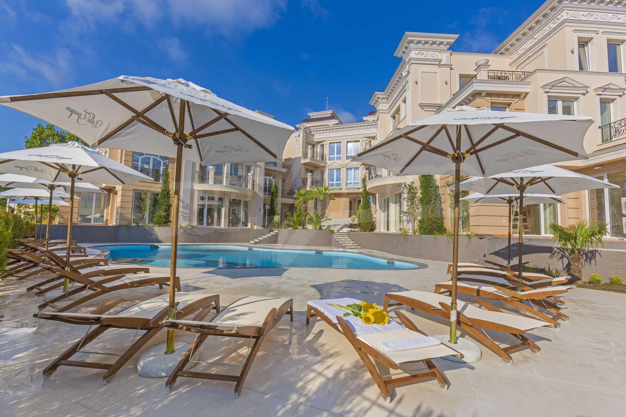 Комфортен двустаен апартамент под наем в Belle Époque Beach Residence, курорт Лозенец 31