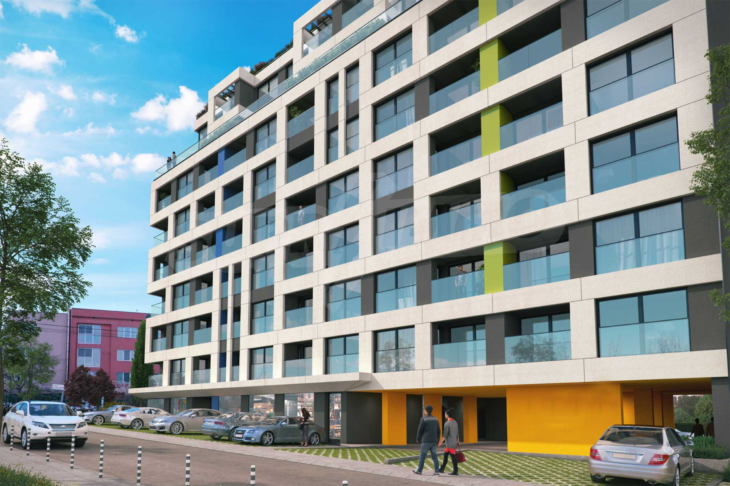 New building with apartments and shops near NBU at attractive prices