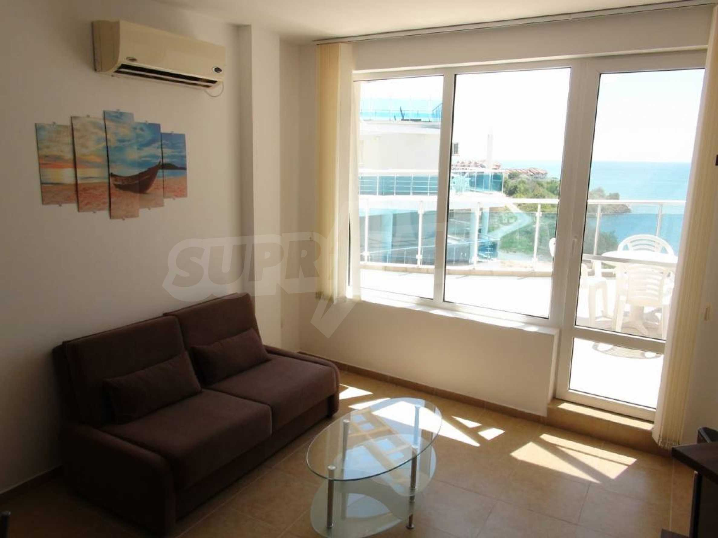 Two-bedroom apartment in a complex on the first line 14