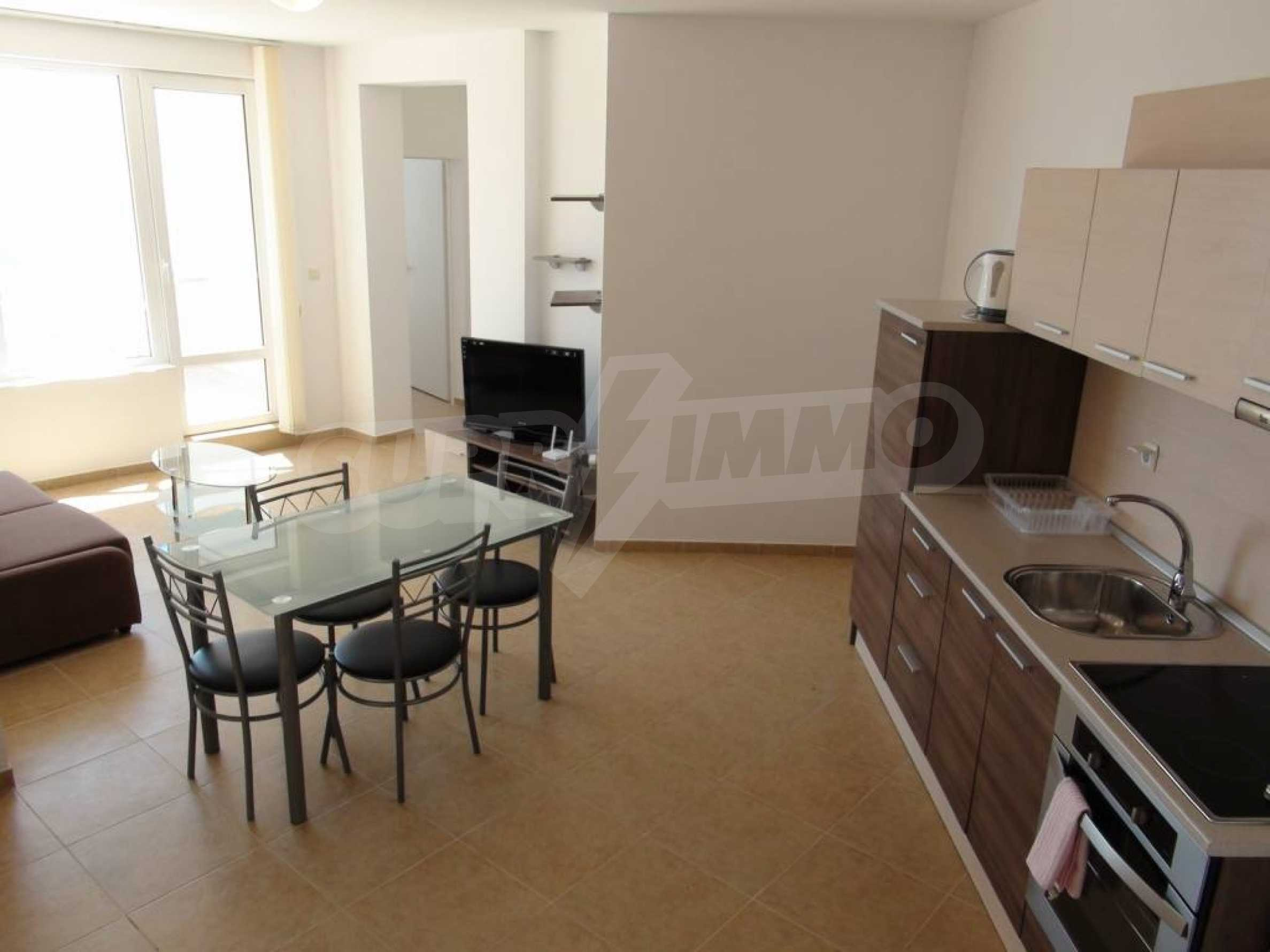Two-bedroom apartment in a complex on the first line 15