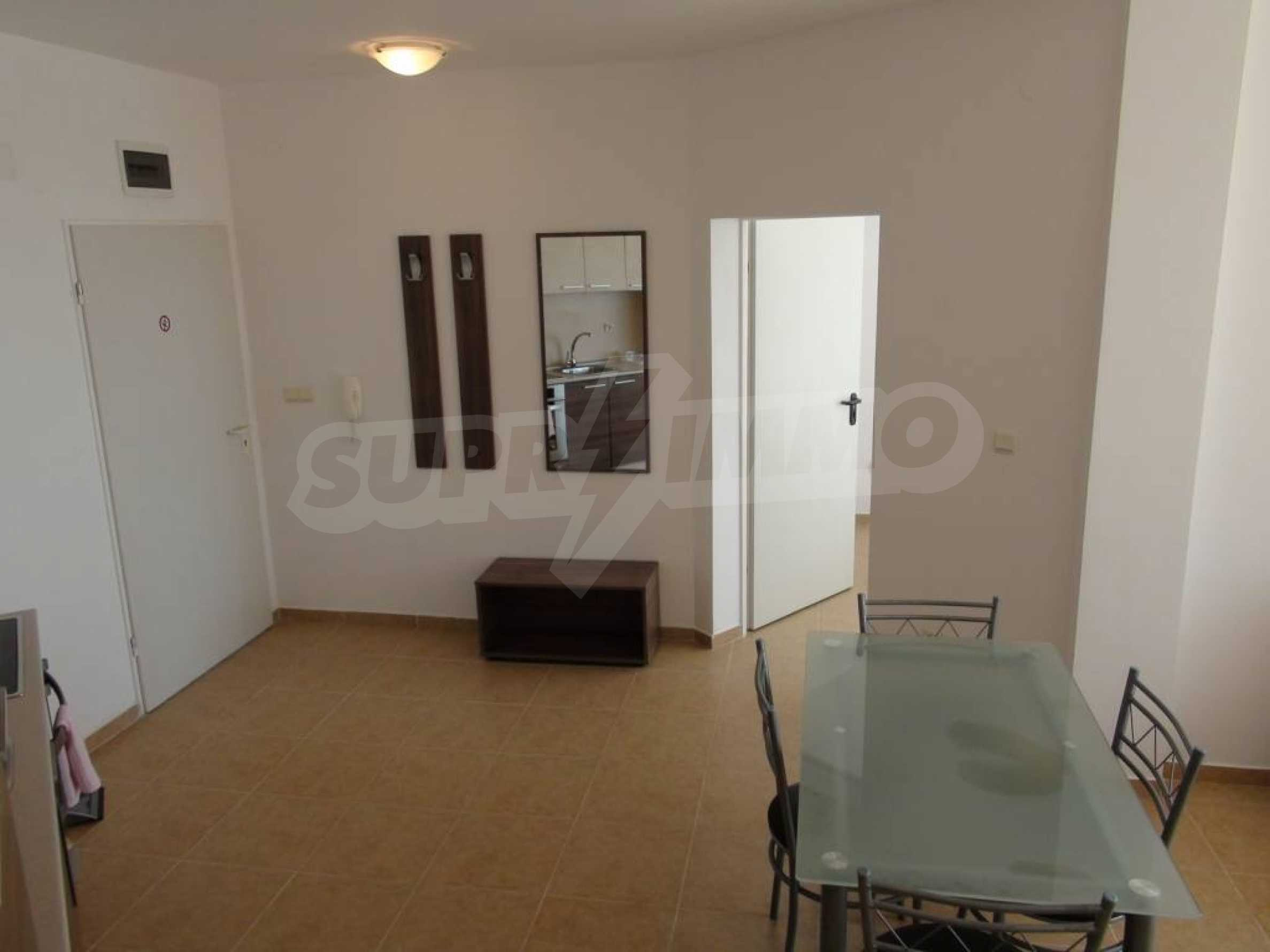 Two-bedroom apartment in a complex on the first line 16