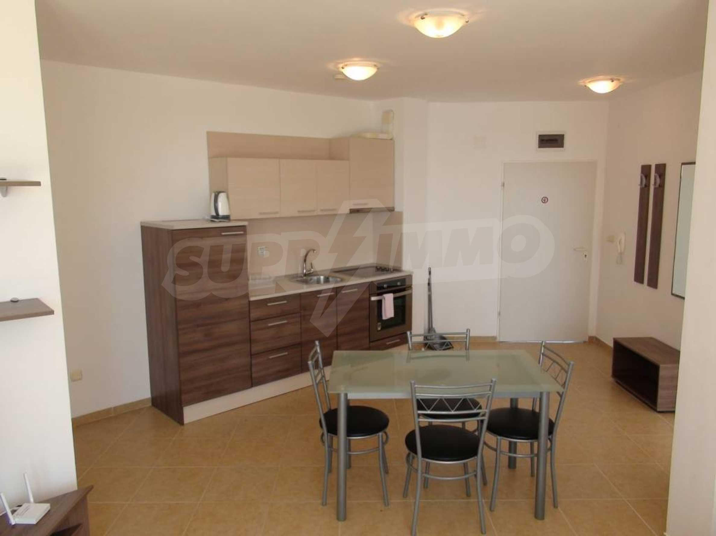 Two-bedroom apartment in a complex on the first line 20