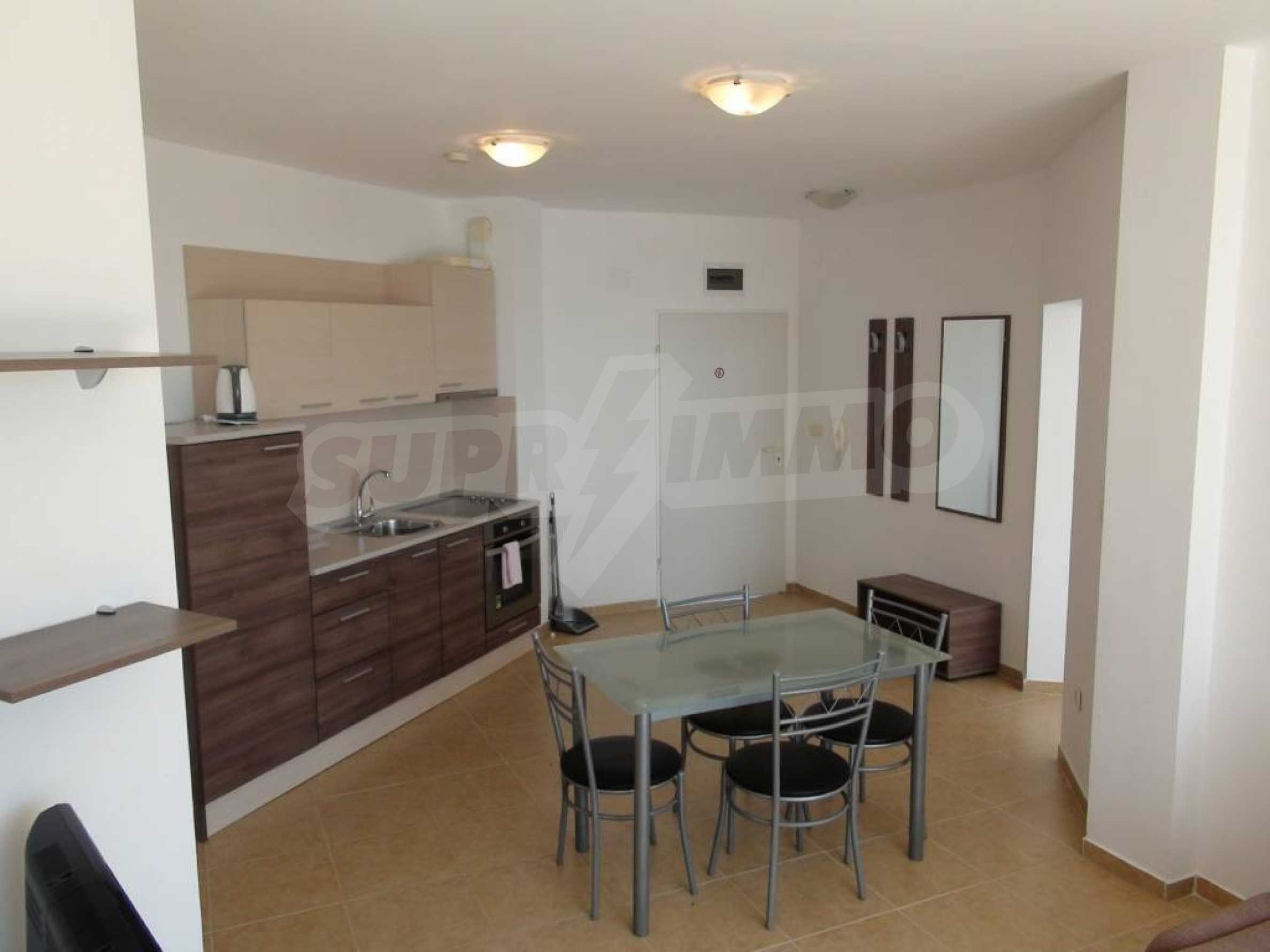 Two-bedroom apartment in a complex on the first line 21