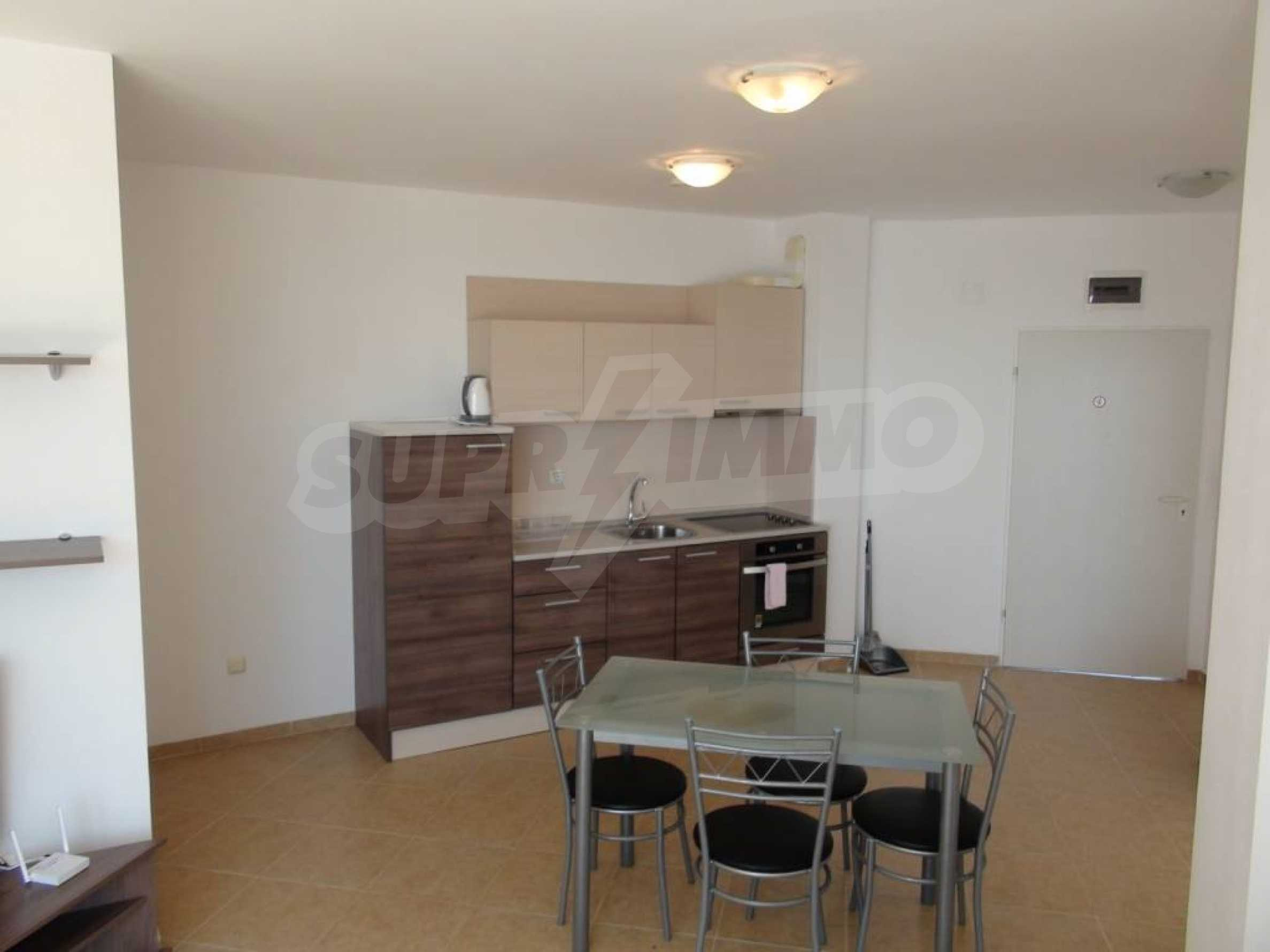Two-bedroom apartment in a complex on the first line 22