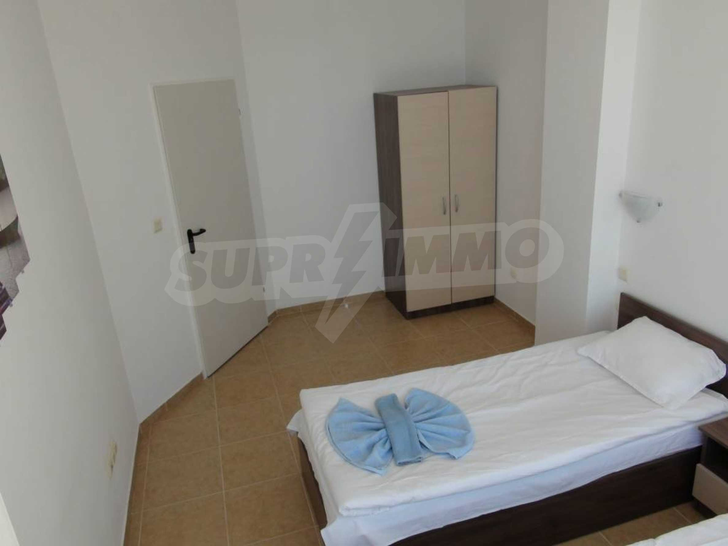 Two-bedroom apartment in a complex on the first line 35