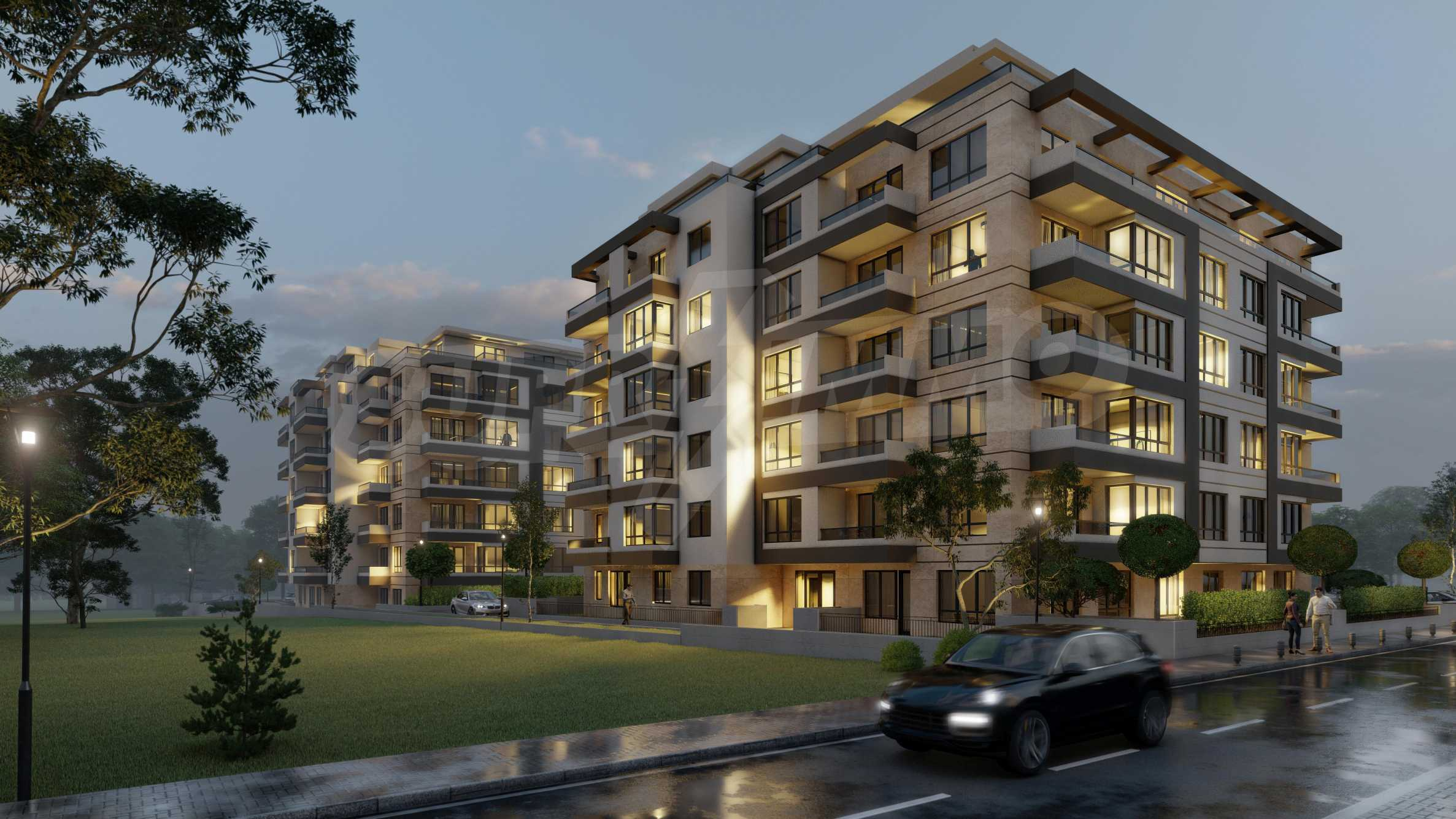 Attractive properties in a new complex next to Paradise Mall and metro station 12