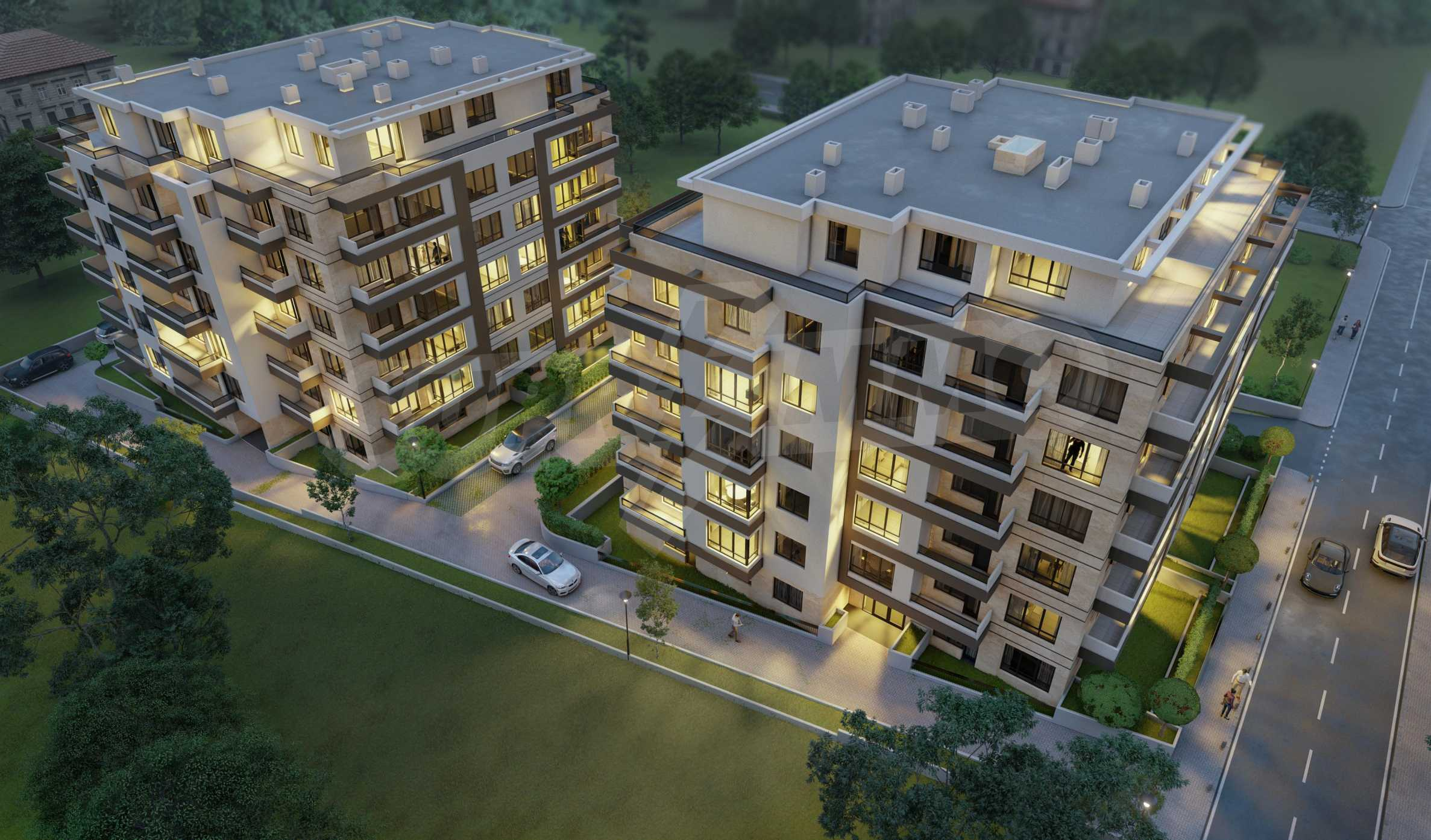Attractive properties in a new complex next to Paradise Mall and metro station 13