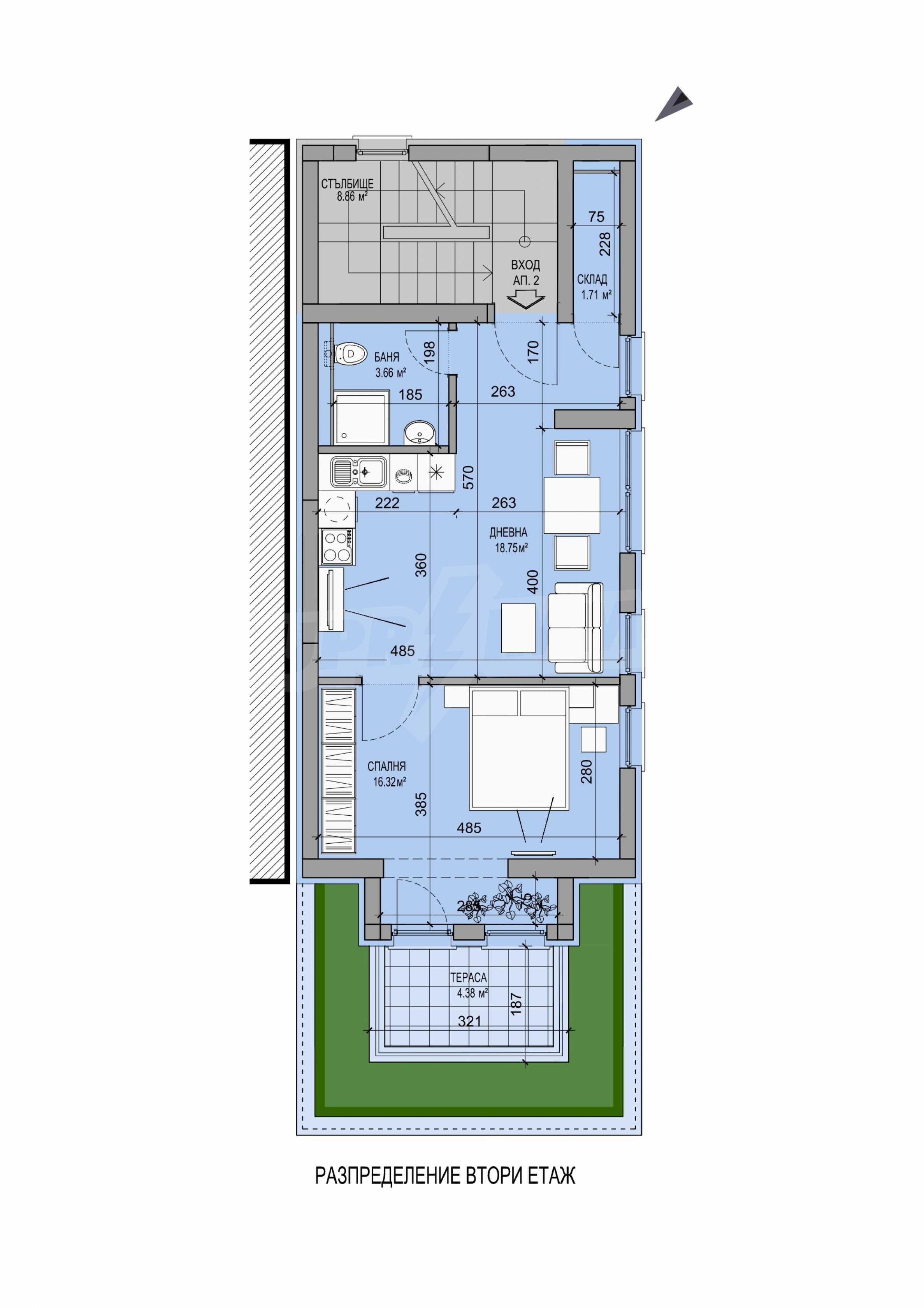 Стилен апартамент в бутикова сграда до НДК 7