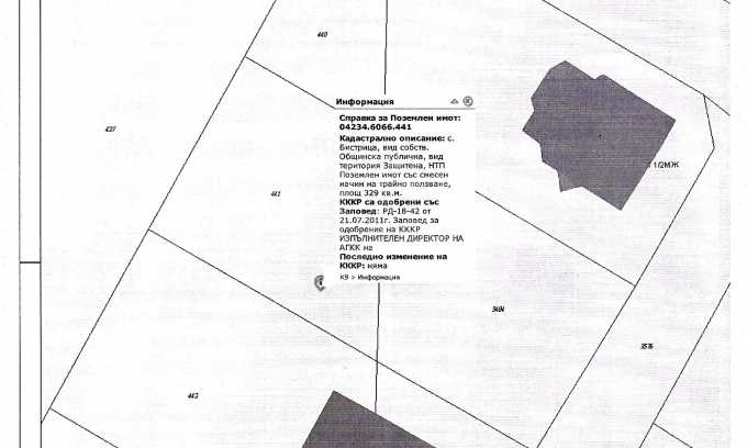 УПИ с целогодишен достъп в зелената част на Бистрица 5
