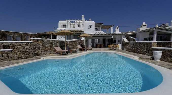 Вила с басейн и морски изглед в Миконос 3