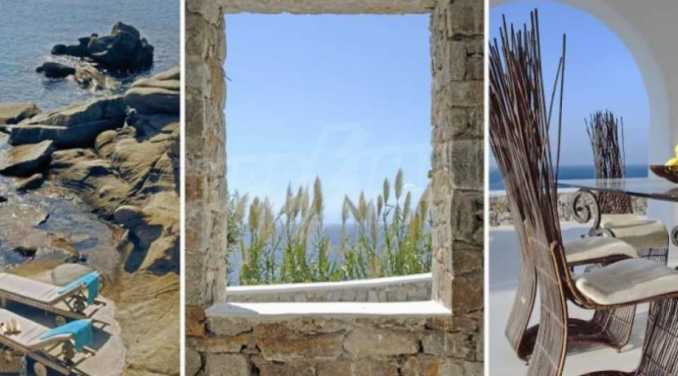 Разкошна вила на морски залив, остров Миконос 9