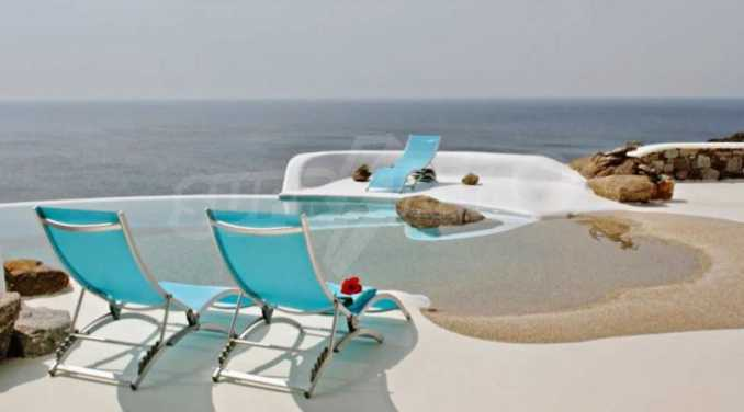 Разкошна вила на морски залив, остров Миконос 1
