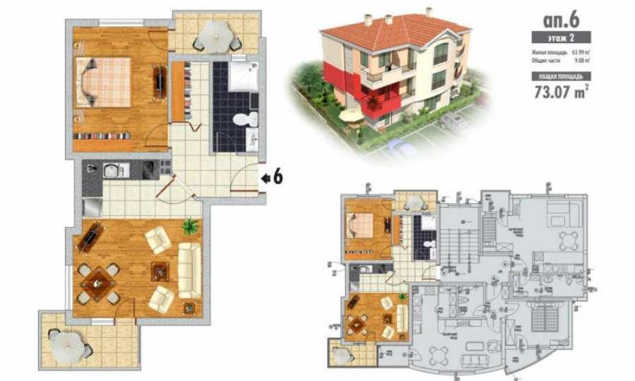 2-Raum-Apartment Blue Roses 2 in der Stadt Byala, Gemeinde Warna 15