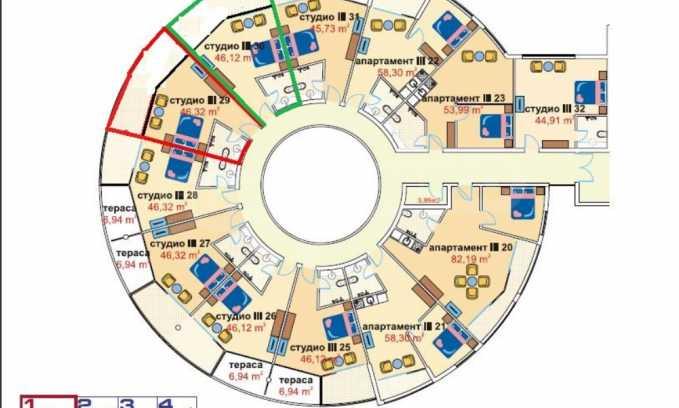 Exklusiv - 1-Raum-Apartment im Komplex Sunny Beach Plaza  15