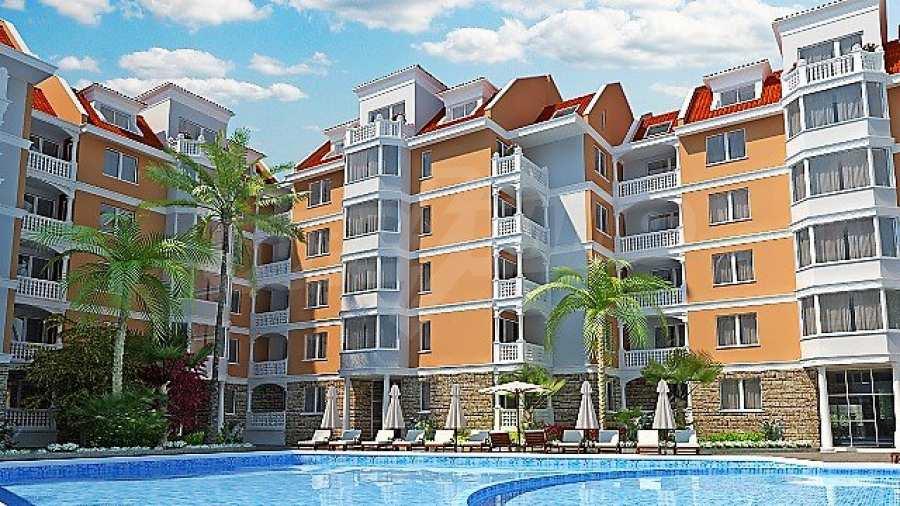 Neue Apartments im attraktiven Komplex neben Cacao Beach am Sonnenstrand