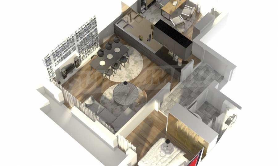 Funktionelle Wohnungen im Neubau-Gebäude im Stadtteil Lasur 12