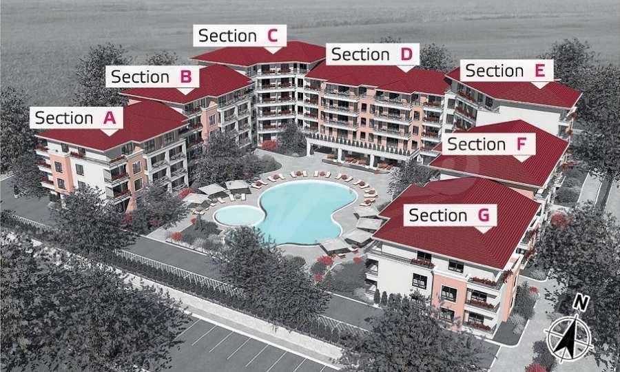 Neue Feriensiedlung mit Apartments zum Verkauf neben dem Park des ehemaligen Sanatoriums 6