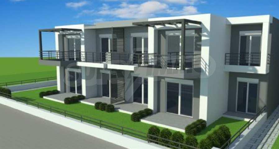 Neue 2-Raum- und 3-Raum-Apartments im geschlossenen Komplex in Paralia Ofriniou, Kavala