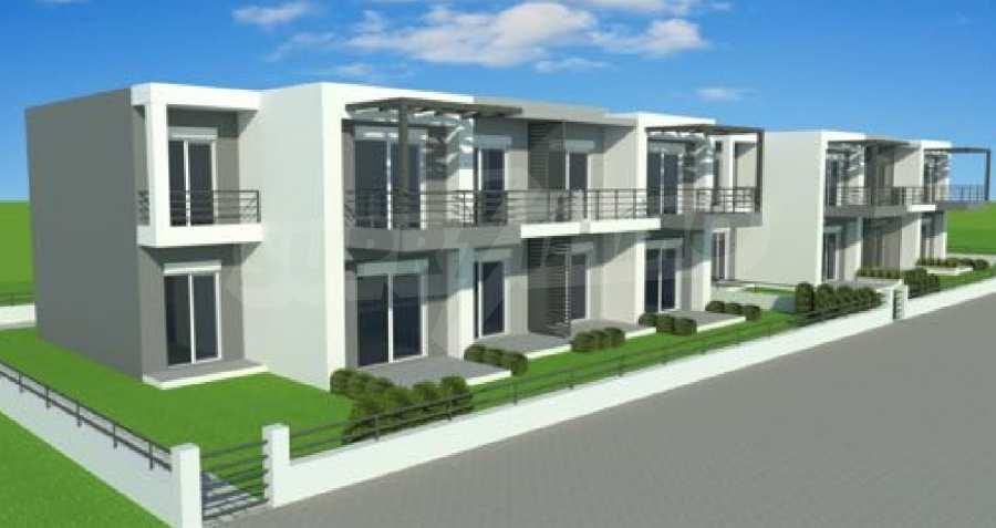 Neue 2-Raum- und 3-Raum-Apartments im geschlossenen Komplex in Paralia Ofriniou, Kavala  2