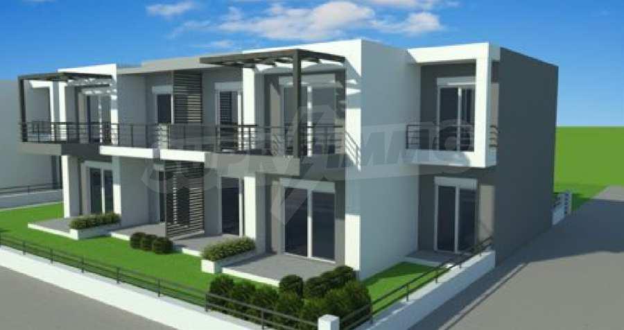 Neue 2-Raum- und 3-Raum-Apartments im geschlossenen Komplex in Paralia Ofriniou, Kavala  4